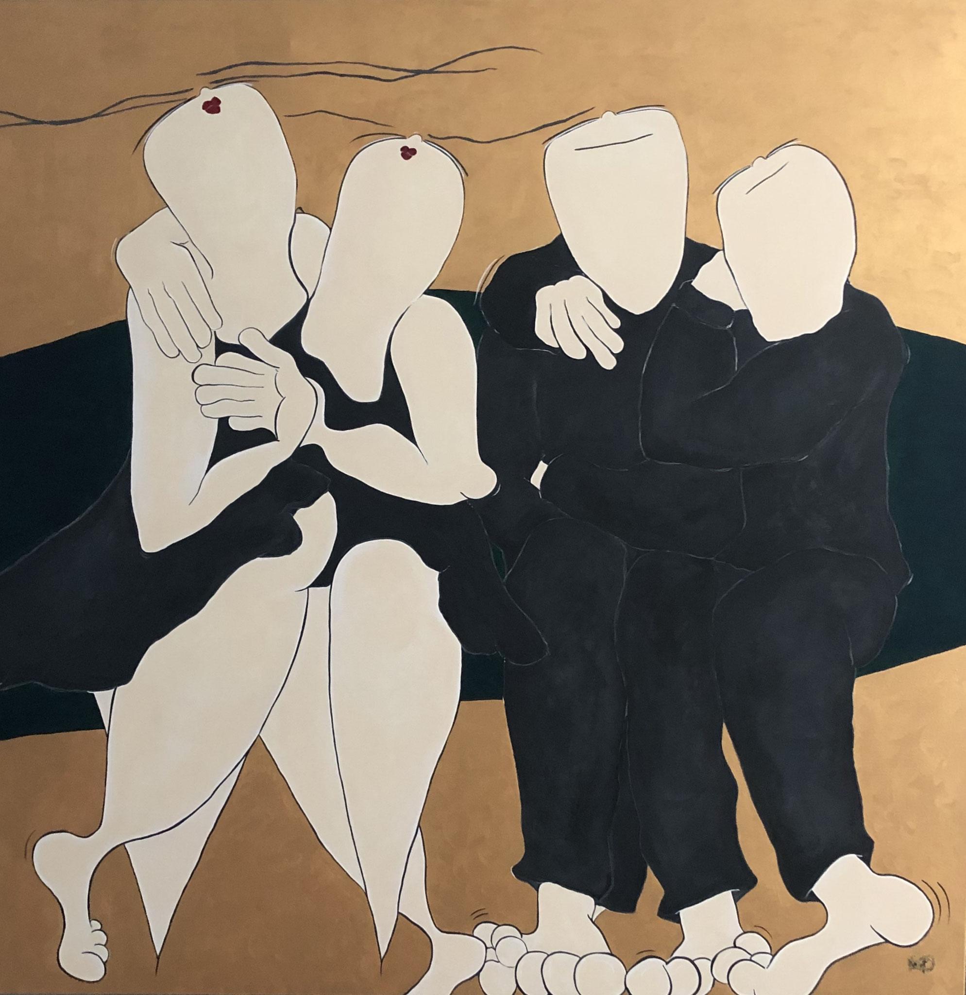 Golden future - Acryl - 150x150