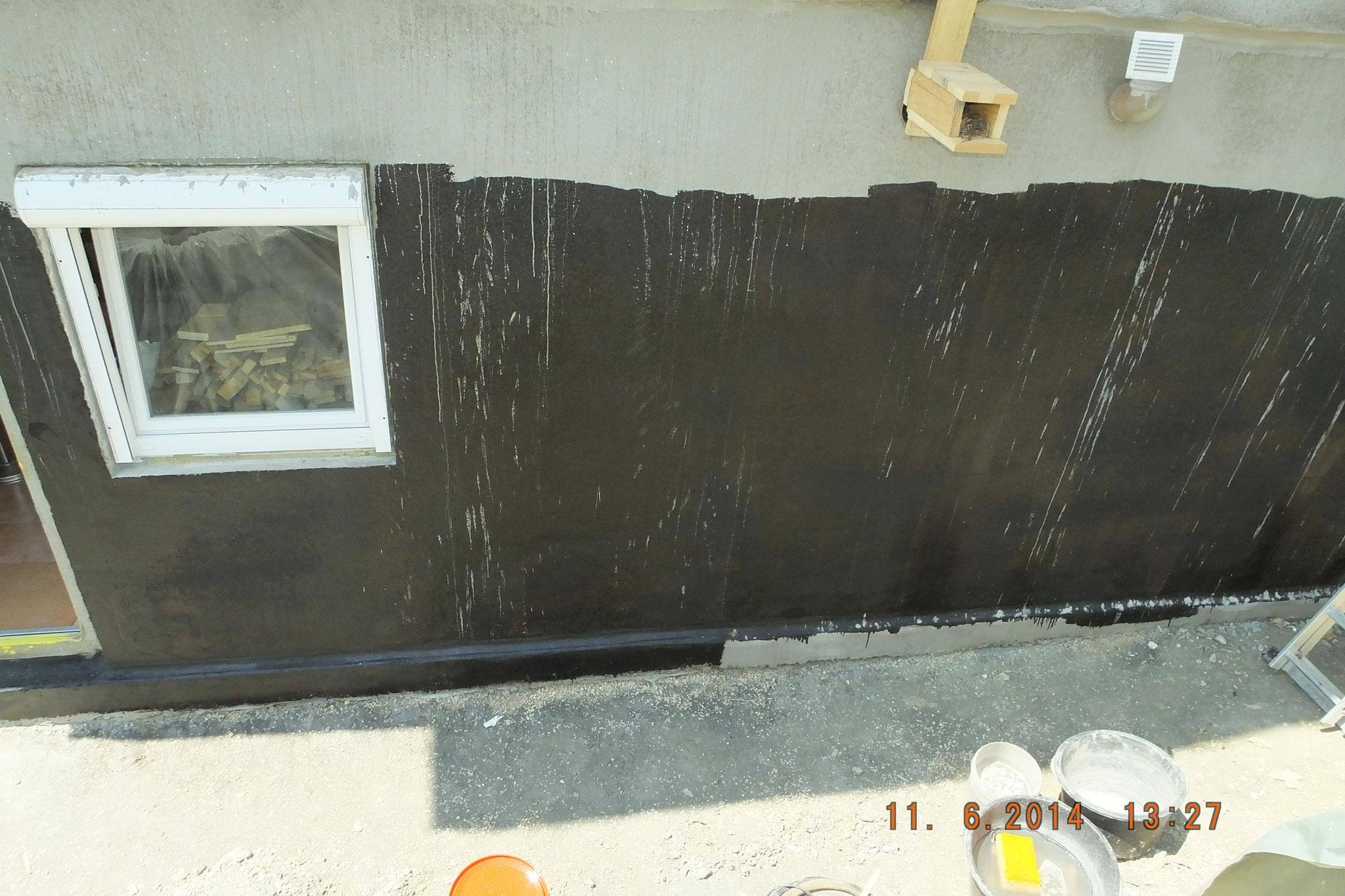 Bauwerksabdichtung  mit Bitumendickbeschichtung oder 2K Multibaudicht