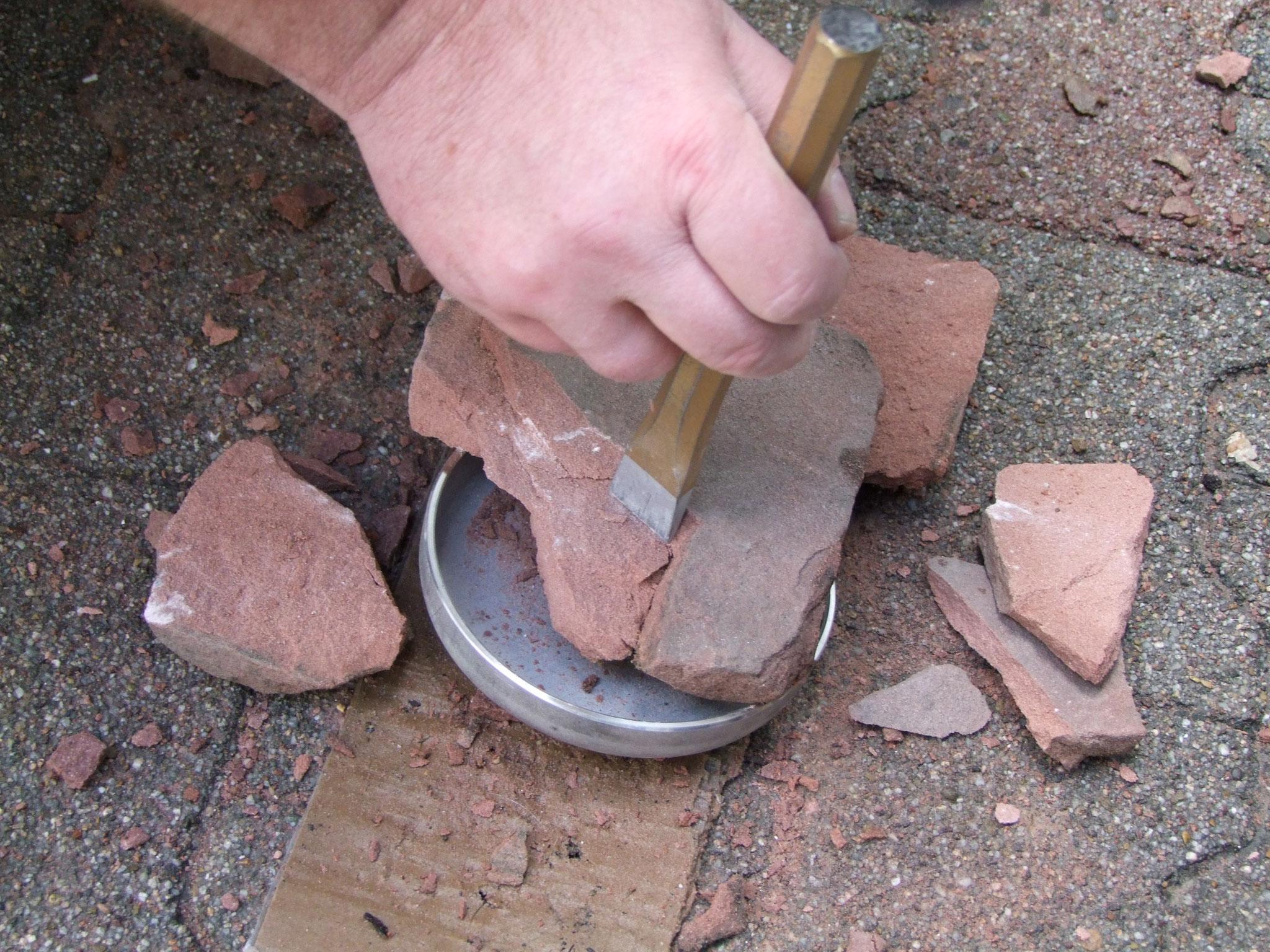Baufeuchtemessung Naturstein