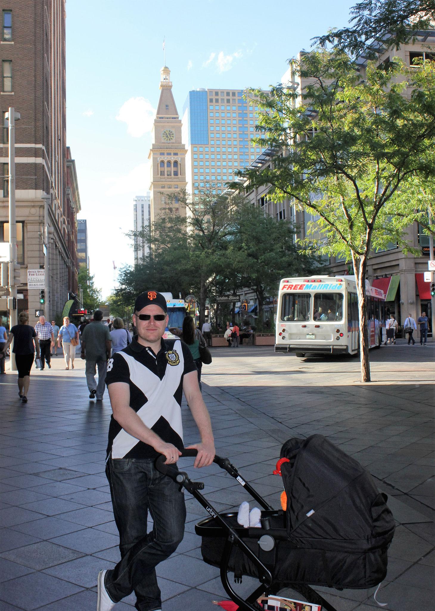 Die Fußgängerzone in Denver oder auch