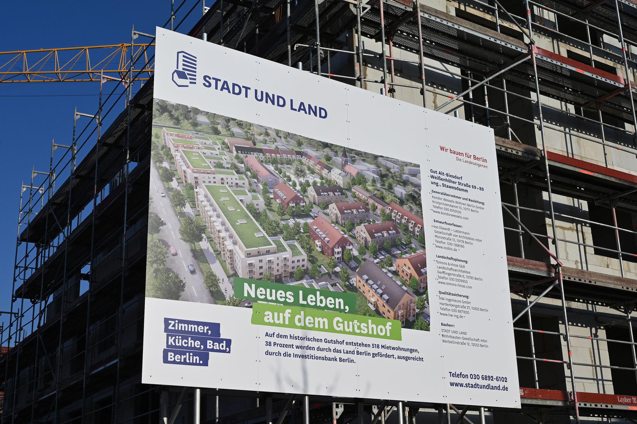 Die STADT UND LAND lässt hier 515 neue Wohnungen errichten. © STADT UND LAND