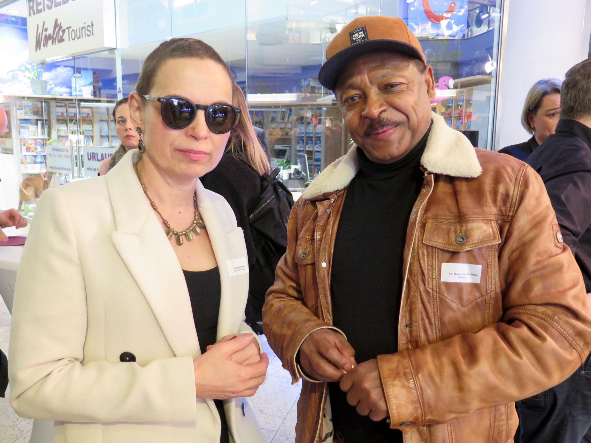 Jeannette Shiferaw (SPD) und Dr. Mekonnen Shiferaw (Geschäftsführer Babel e.V.)