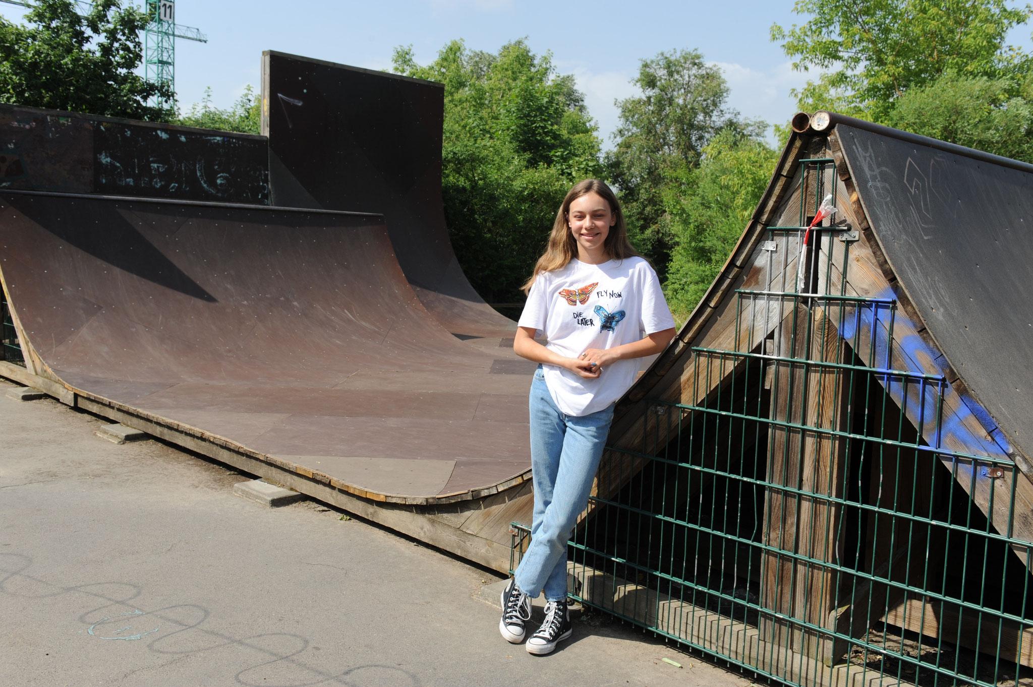 Skateboarderin Lilly Stoephasius hat sich für die Olympischen Spiele qualifiziert. © pressefoto-uhlemann.de