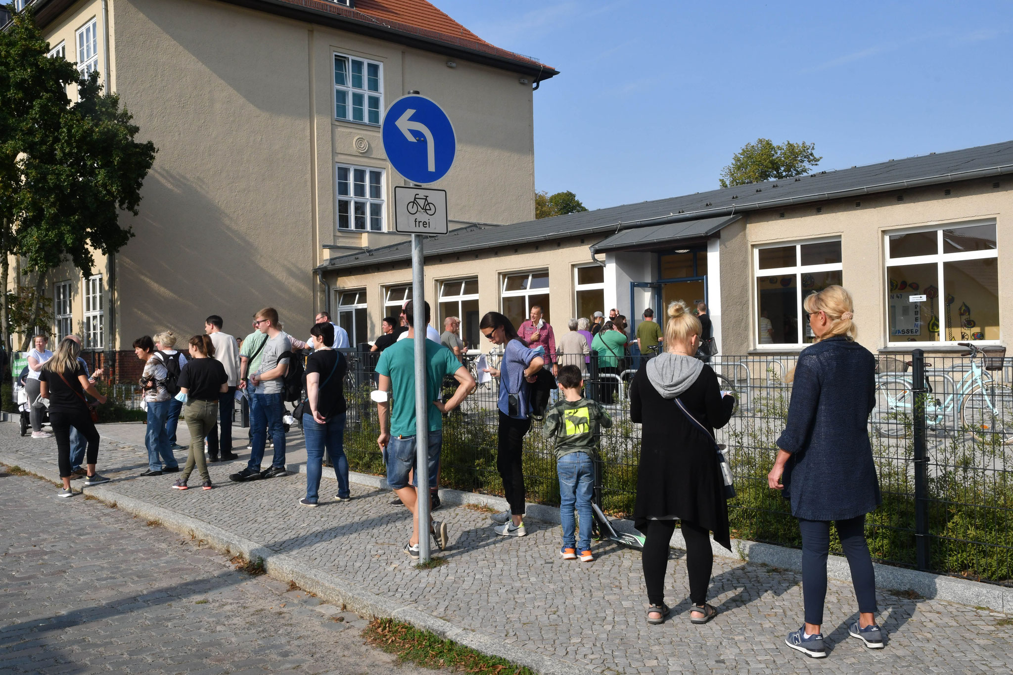 Wahllokal in der Mahlsdorfer Grundschule © pressefoto-uhlemann.de
