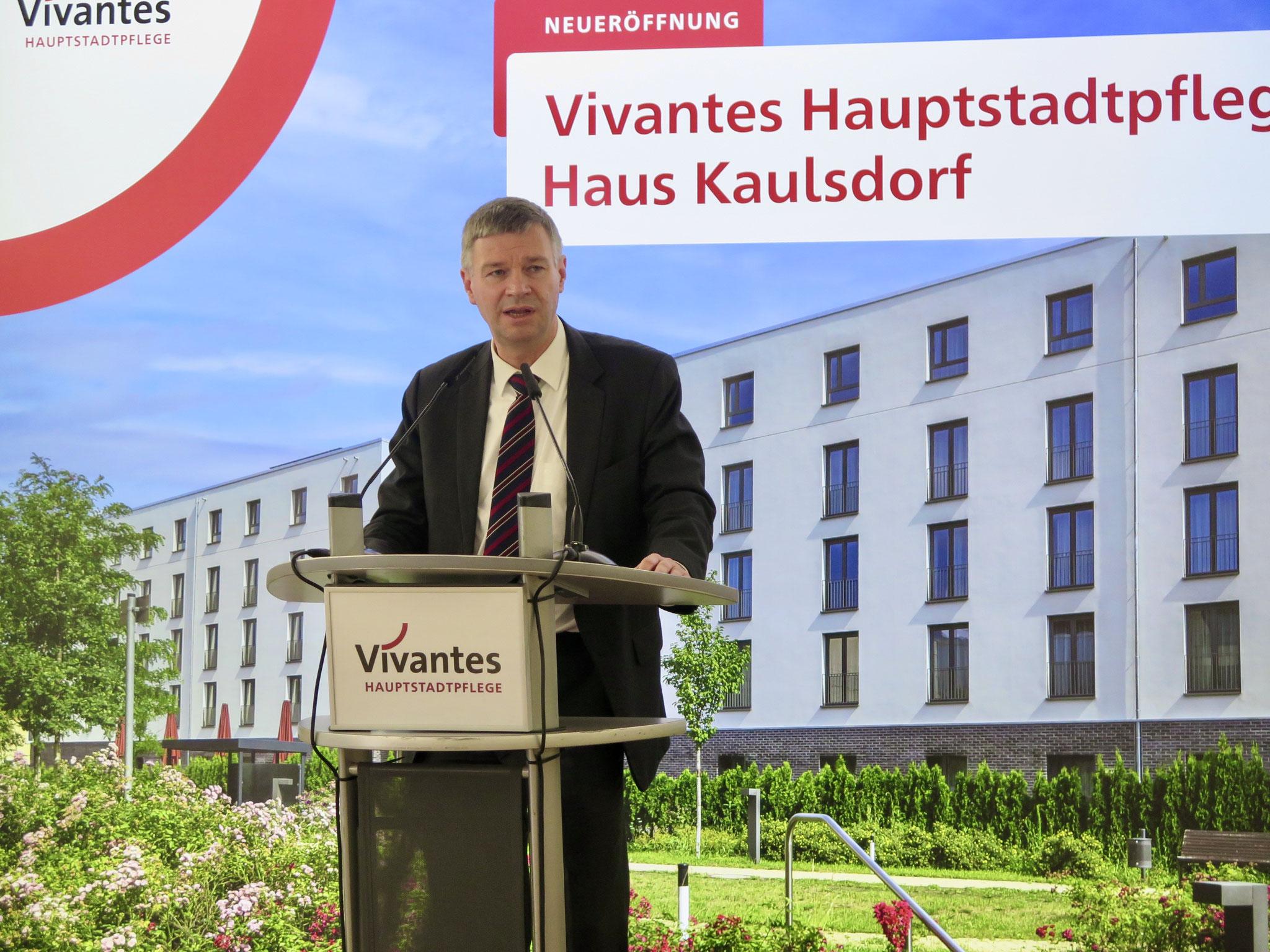 Dr. Eibo Krahmer, Vivantes-Geschäftsführer für Finanzen, Digitalisierung und Infrastruktur