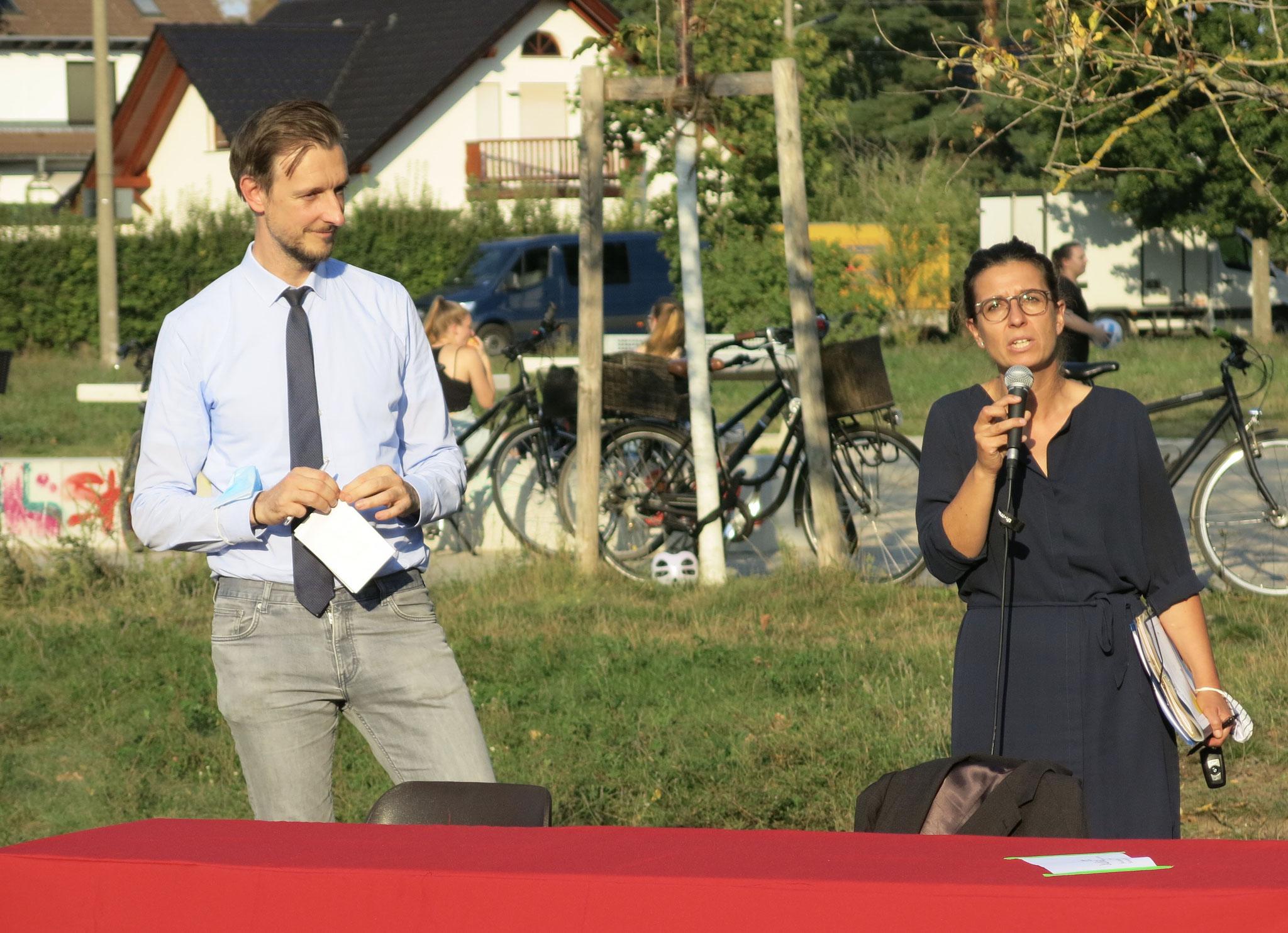 Gordon Lemm (SPD) und Nadja Zivkovic (CDU) beantworteten Fragen.