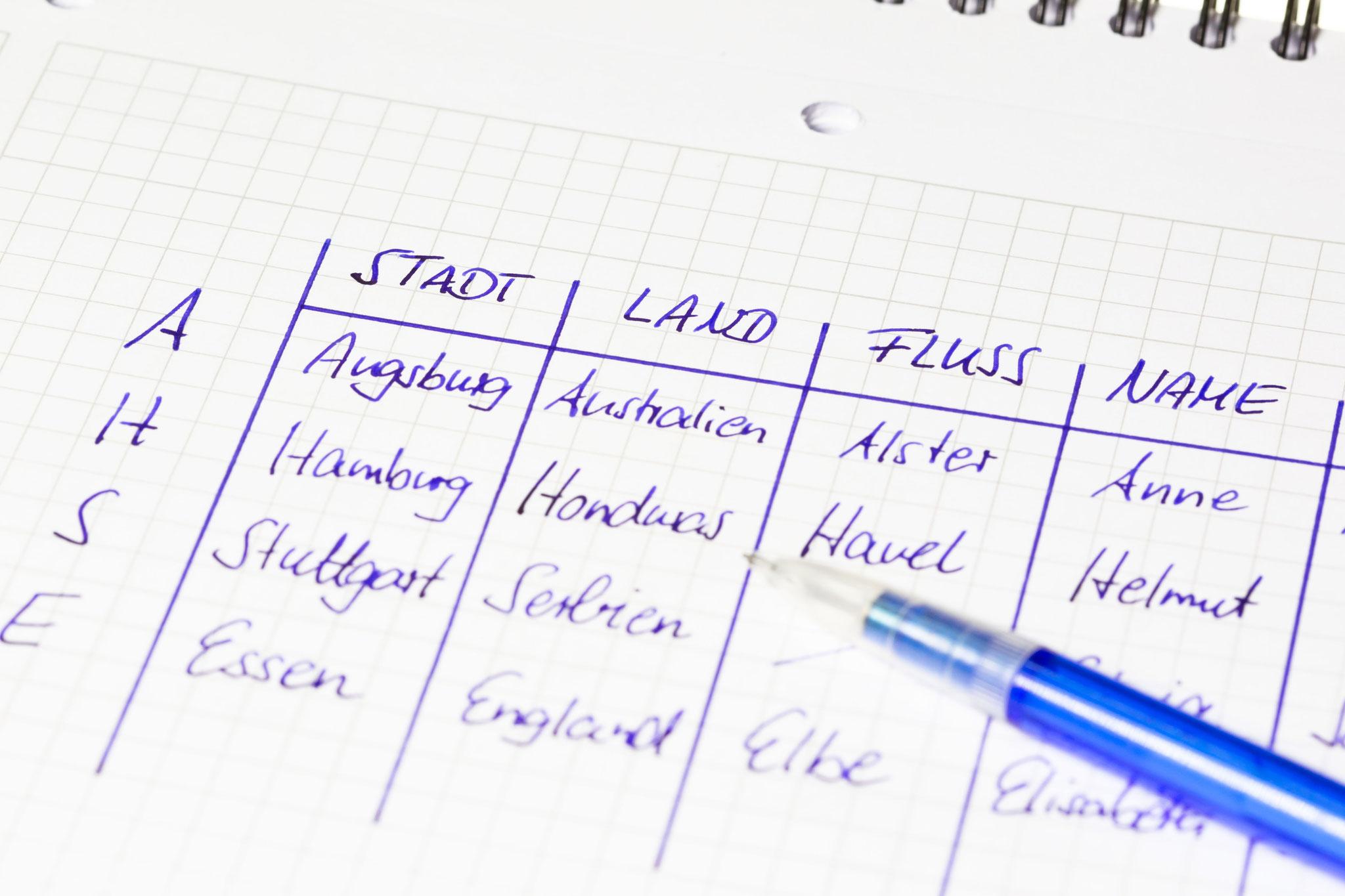 Spiele, für die man nur Papier und Stift braucht © Jeanette Dietl, Adobe Stock