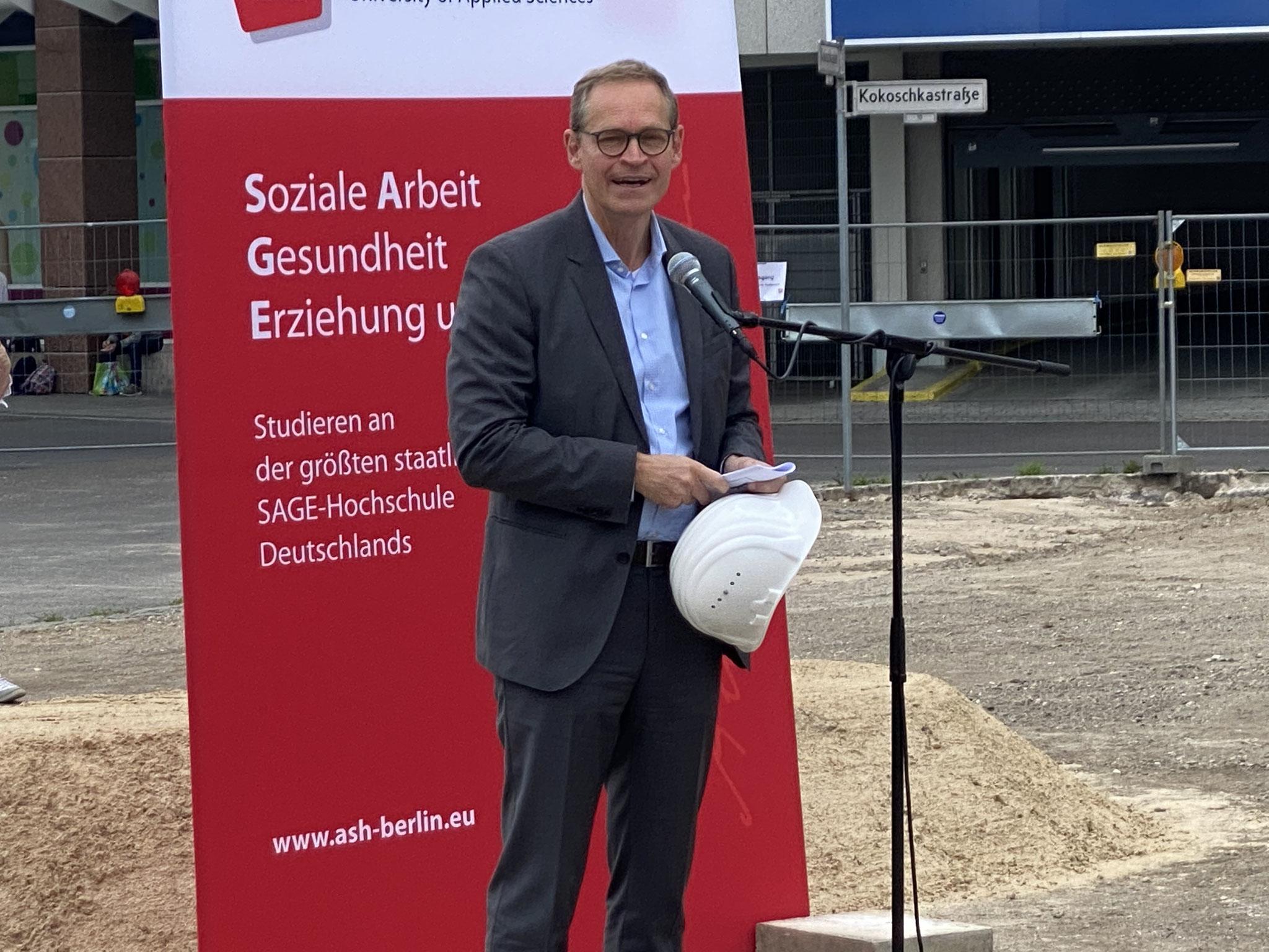 Berlins scheidender Regierender Bürgermeister Michael Müller