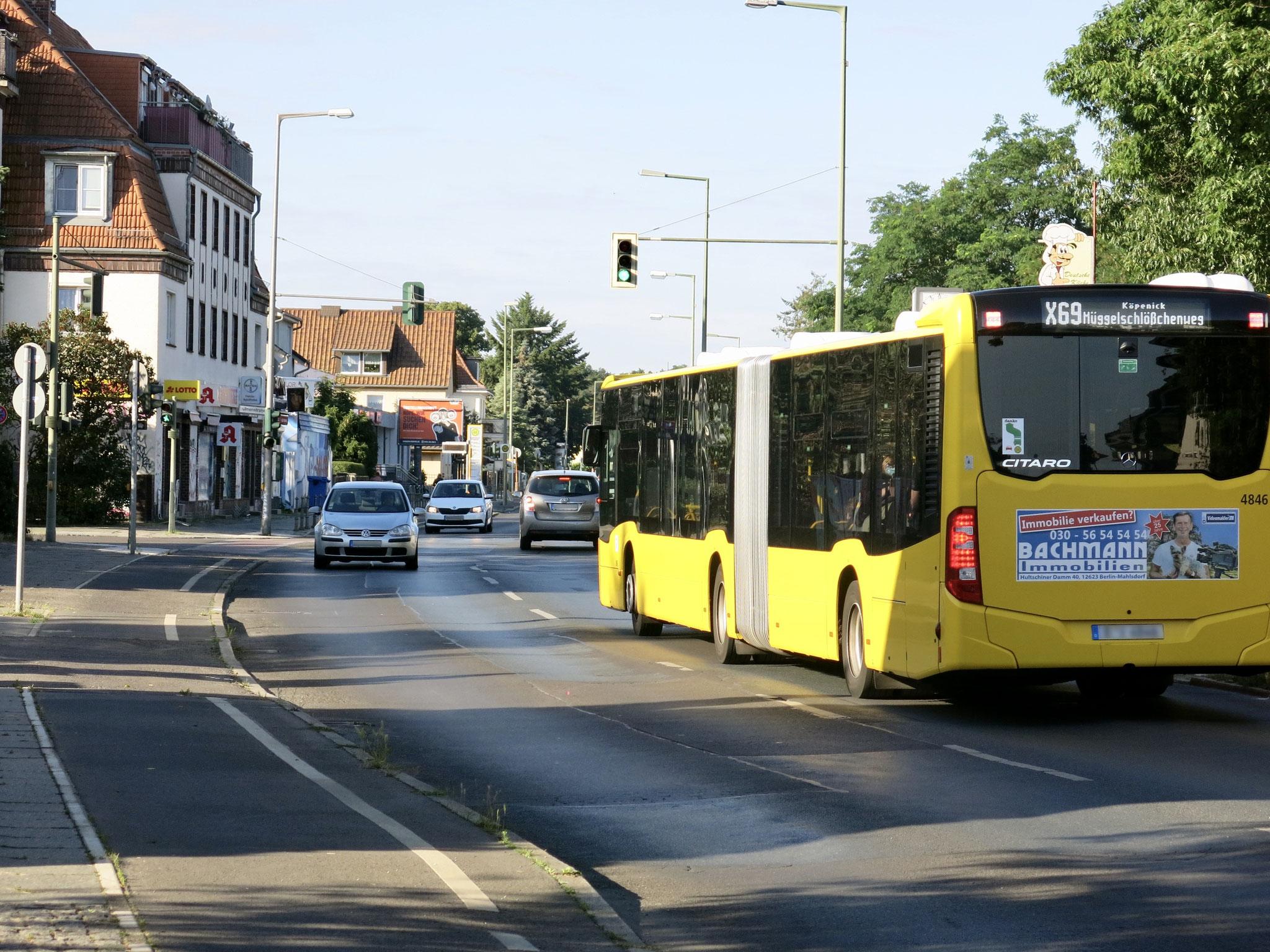 6. bis 17. Juli. Vollsperrung auf der Chemnitzer Straße zwischen Bergedorfer Straße und Ulmenstraße