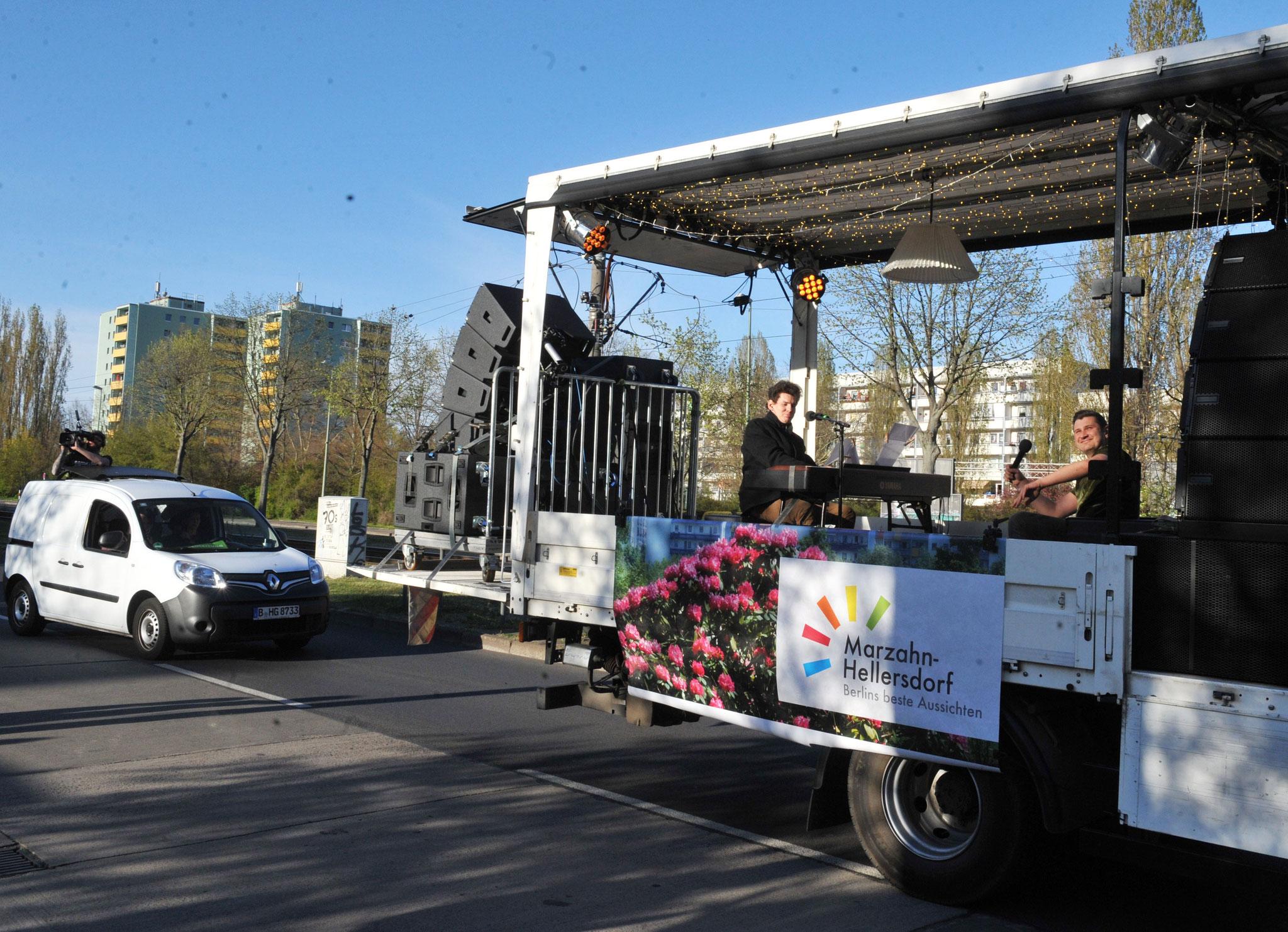 Die Route am Samstag führte überwiegend durch Hellersdorf. © pressefoto-uhlemann.de