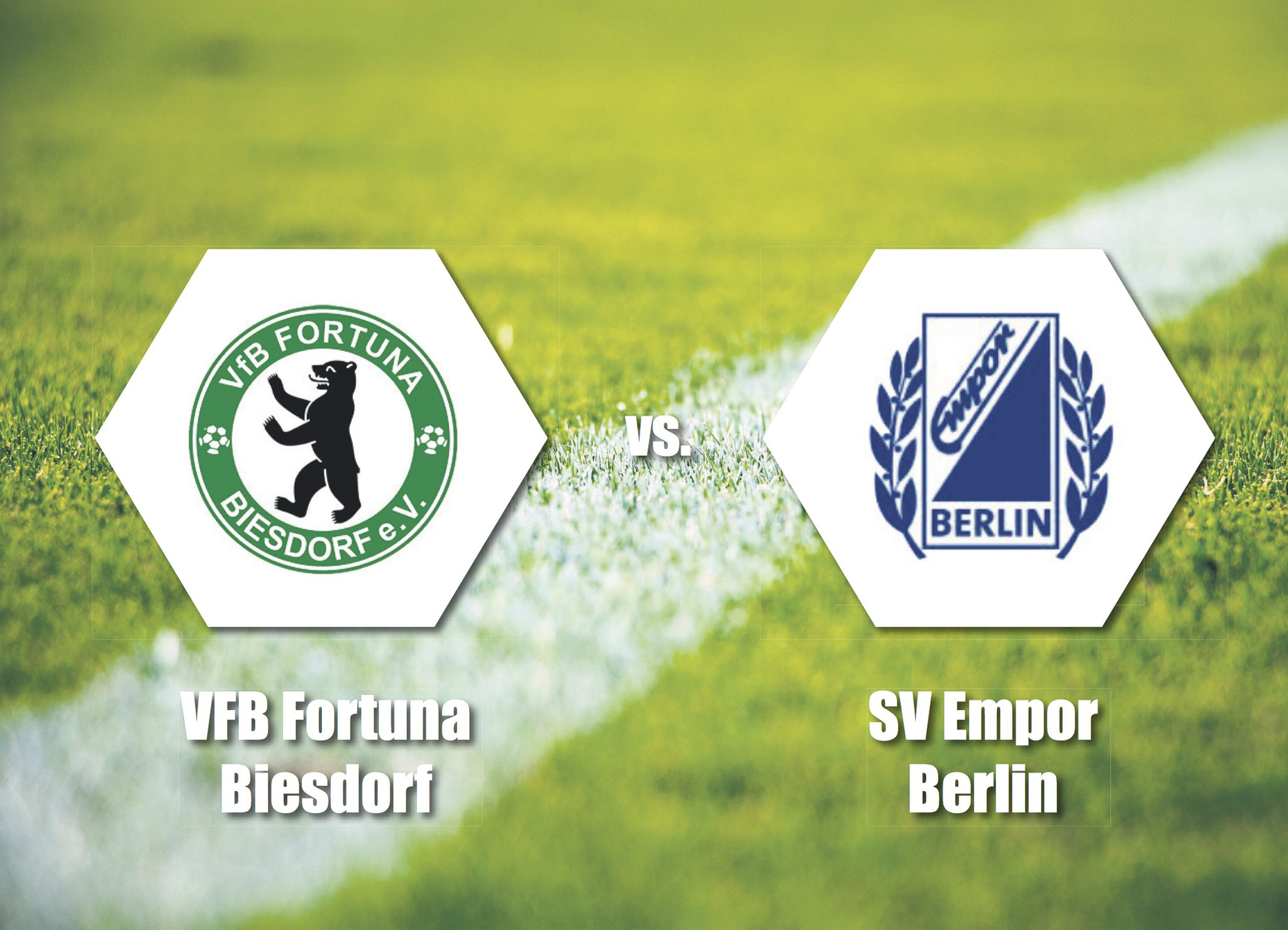 Sa, 15.02., 14 Uhr: Fortuna Biesdorf empfängt in der Berlin-Liga den SV Empor Berlin. Ort: Grabensprung, 12683 Berlin