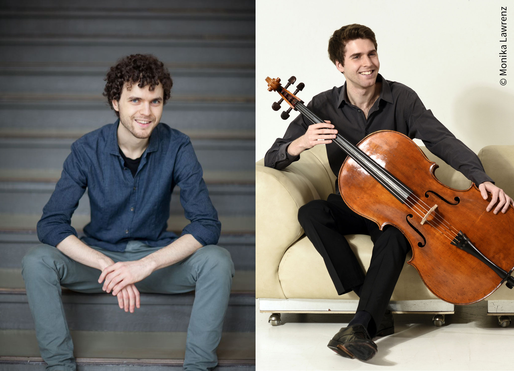 Tipp 12: Sa, 2.11., 16 Uhr: Klassik-Konzert. Philip Graham und Jonas Palm (beide Violoncello) treten in der Krankenhauskirche im Wuhlgarten auf.