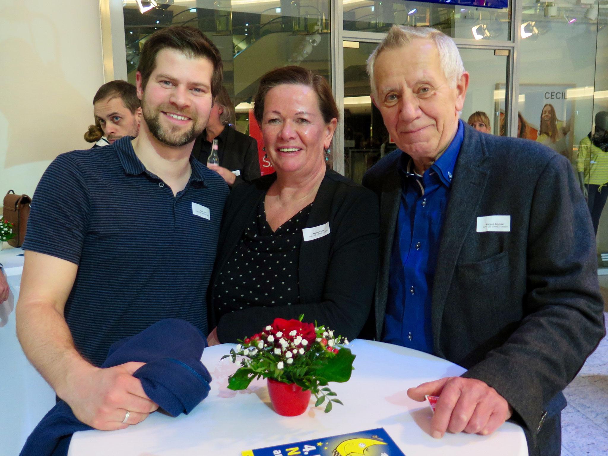 Steven Kelz, Regina Kittler und Norbert Seichter (Die Linke)