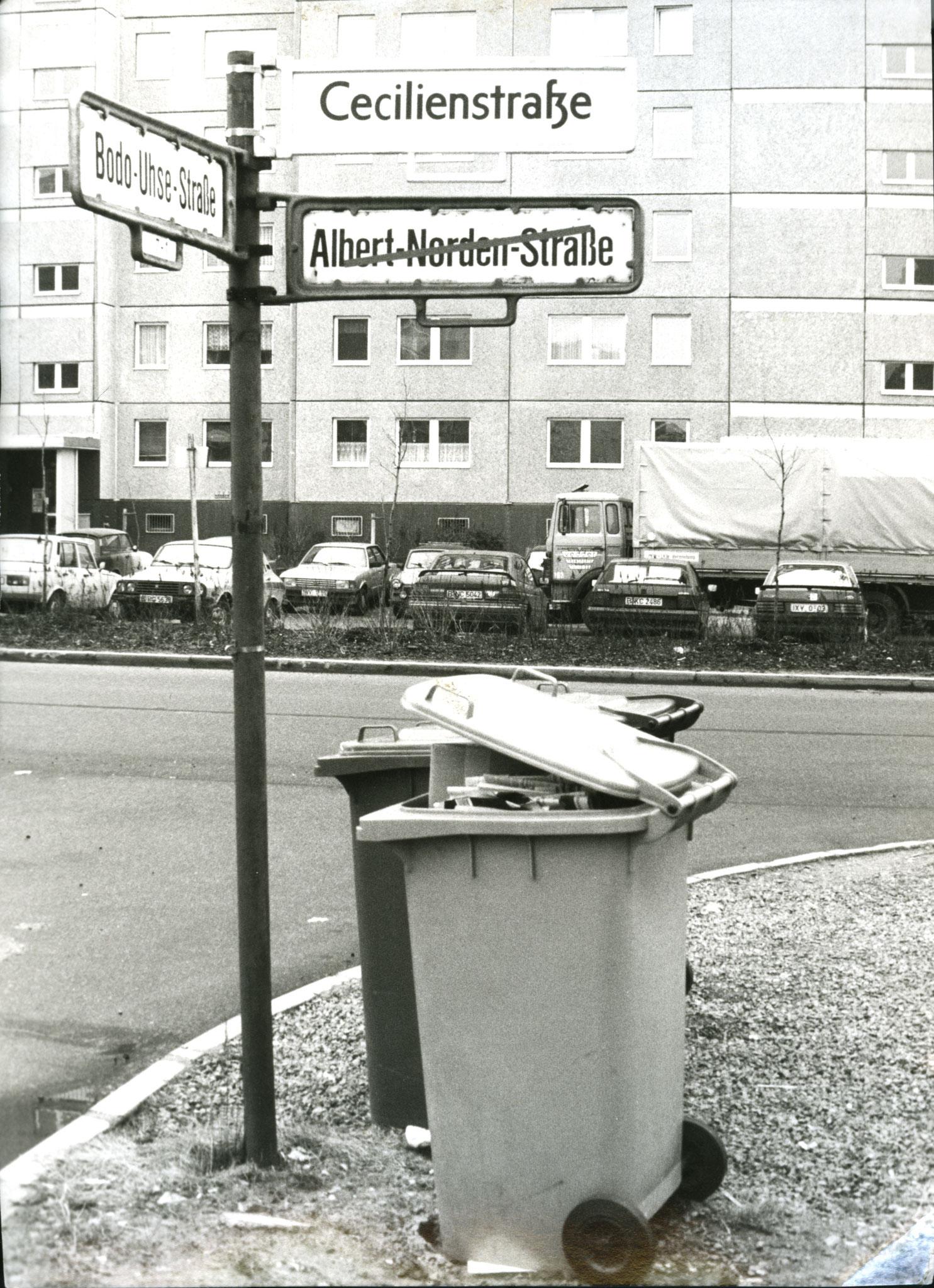 Im Fall der Cecilienstraße ist der ursprüngliche Name von 1910 wieder eingeführt worden. © pressefoto-uhlemann.de