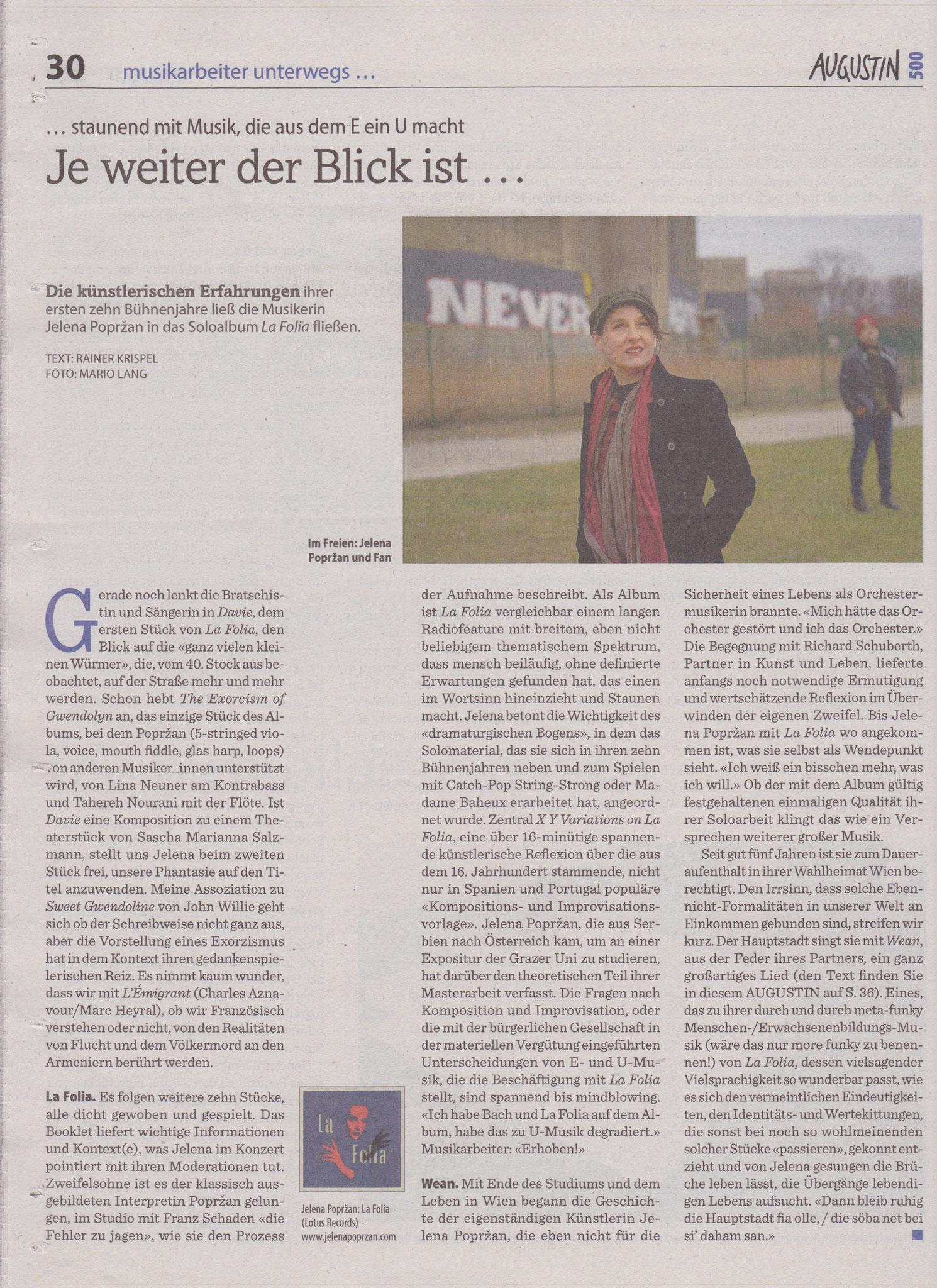 """""""Augustin"""" (Rainer Krispel), Februar 2020, AT"""