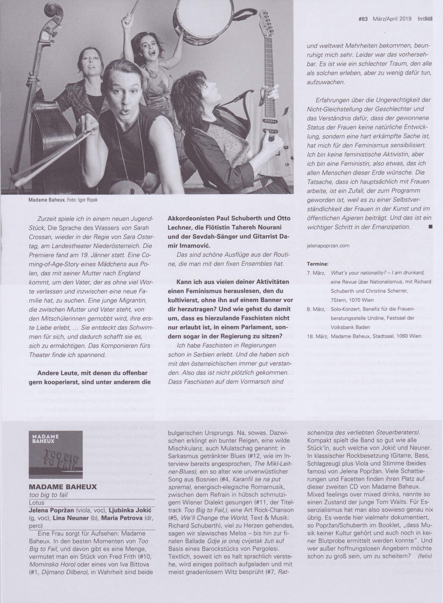 """""""freiStil"""" Interview 3, March 2019, AT"""