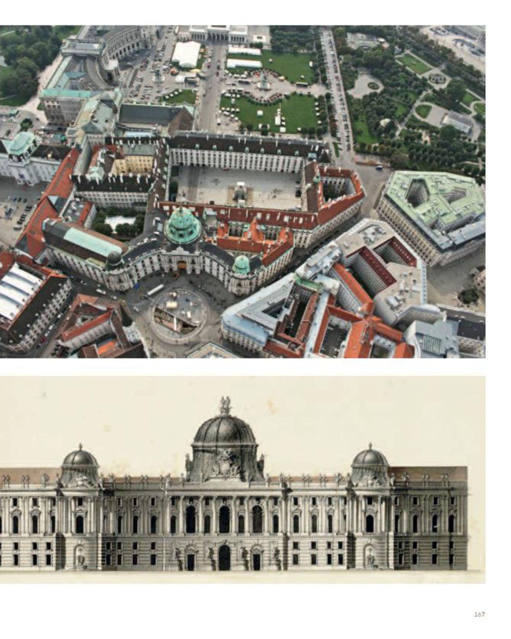 Doppelseite Michaelerplatz / Luftbild © Stefanie Grüssl