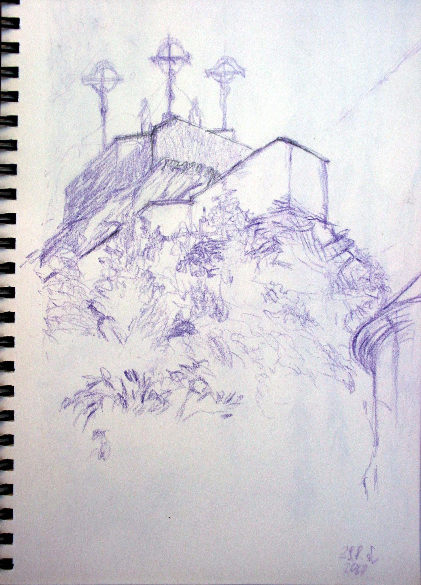Susanne Wechtitsch: Kalvarienberg Graz, Studie