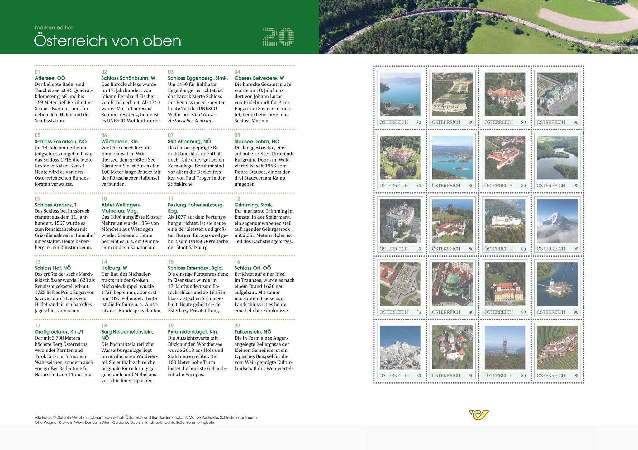 Markenedition mit 20 Luftaufnahmen von Stefanie Grüssl