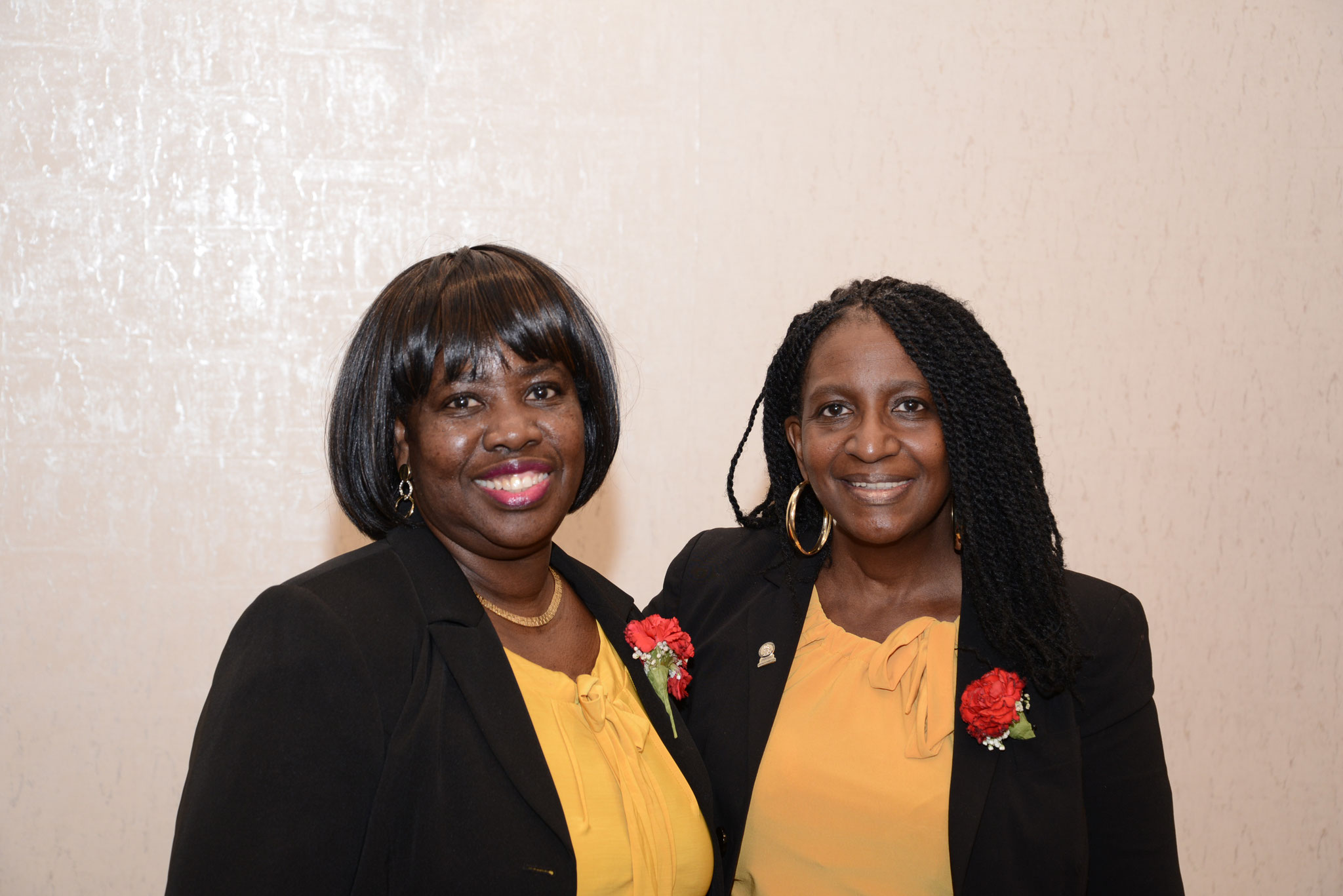Club Asst YF Darlene Mack-Brown and Club Chaplin YF Dietra Harvey
