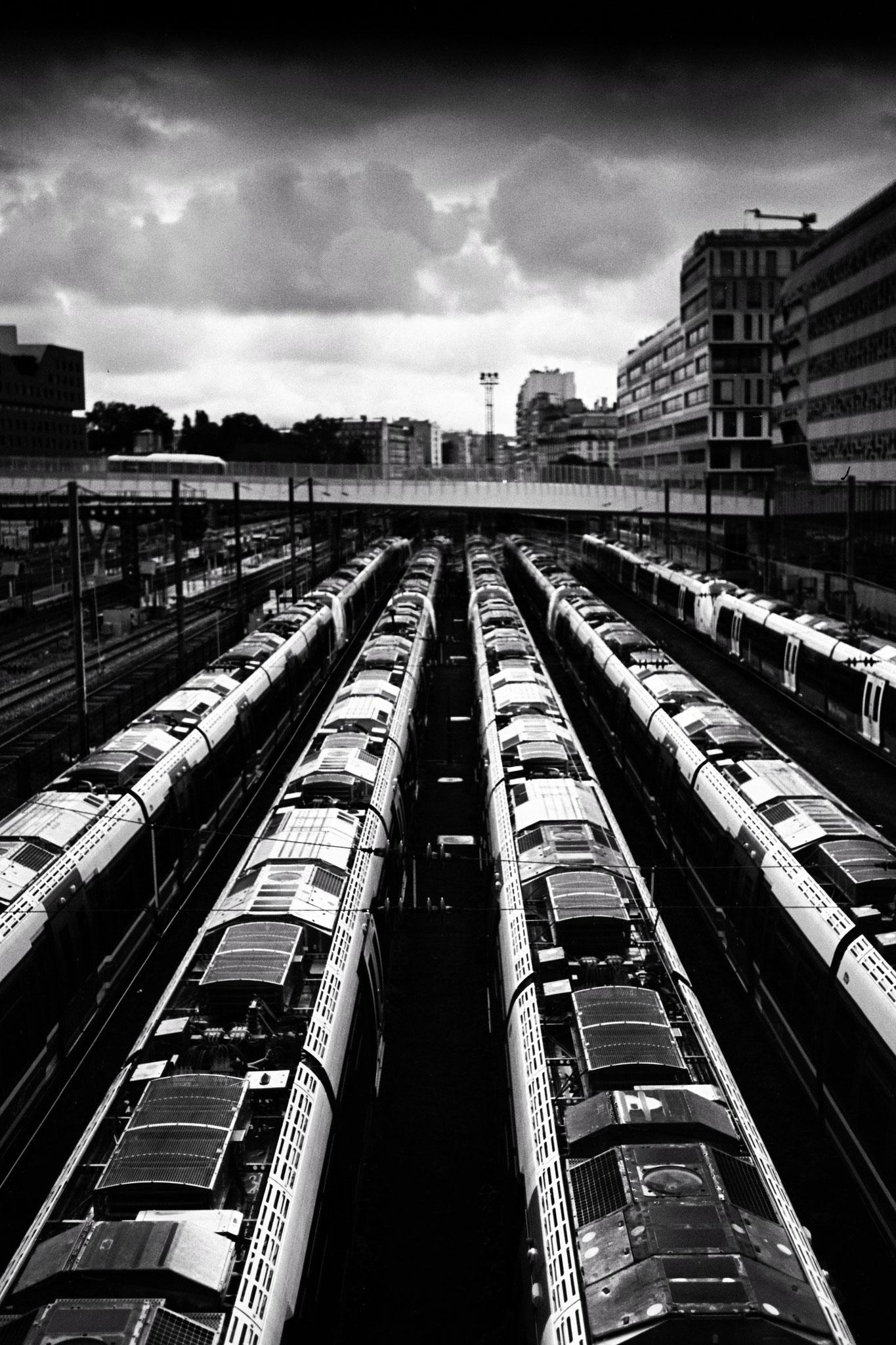 """""""Next trip"""" - Les Batignolles, Paris (2021). Ferrania Panchro P30 80 ASA. © Clémence Rougetet"""