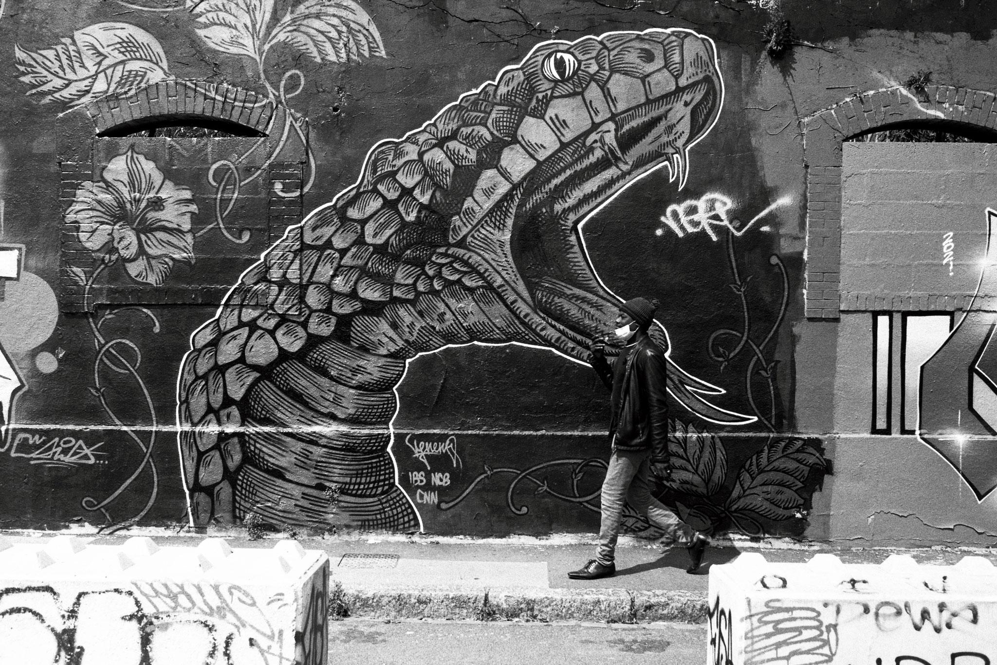 """The snake"" - Nantes (2021). Ilford FP4 Plus 125 ASA"