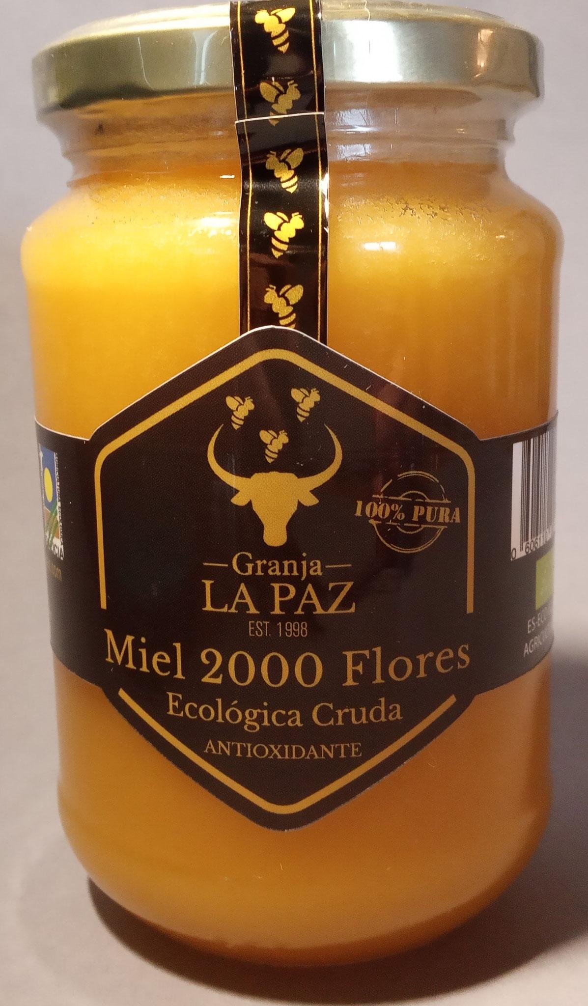 Miel Cruda Ecológica 2000 Flores