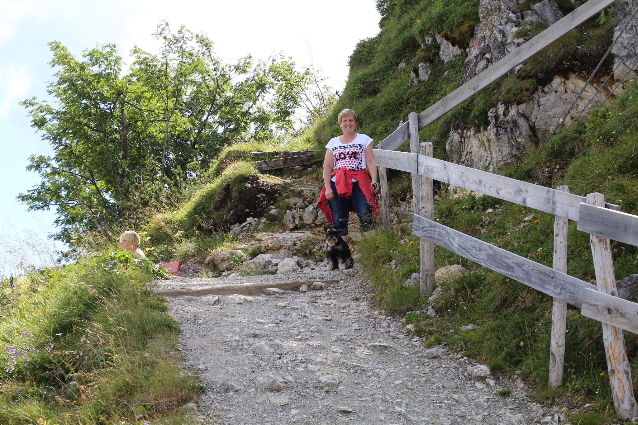 Beim Bergwandern im Tannheimer Tal August 2016
