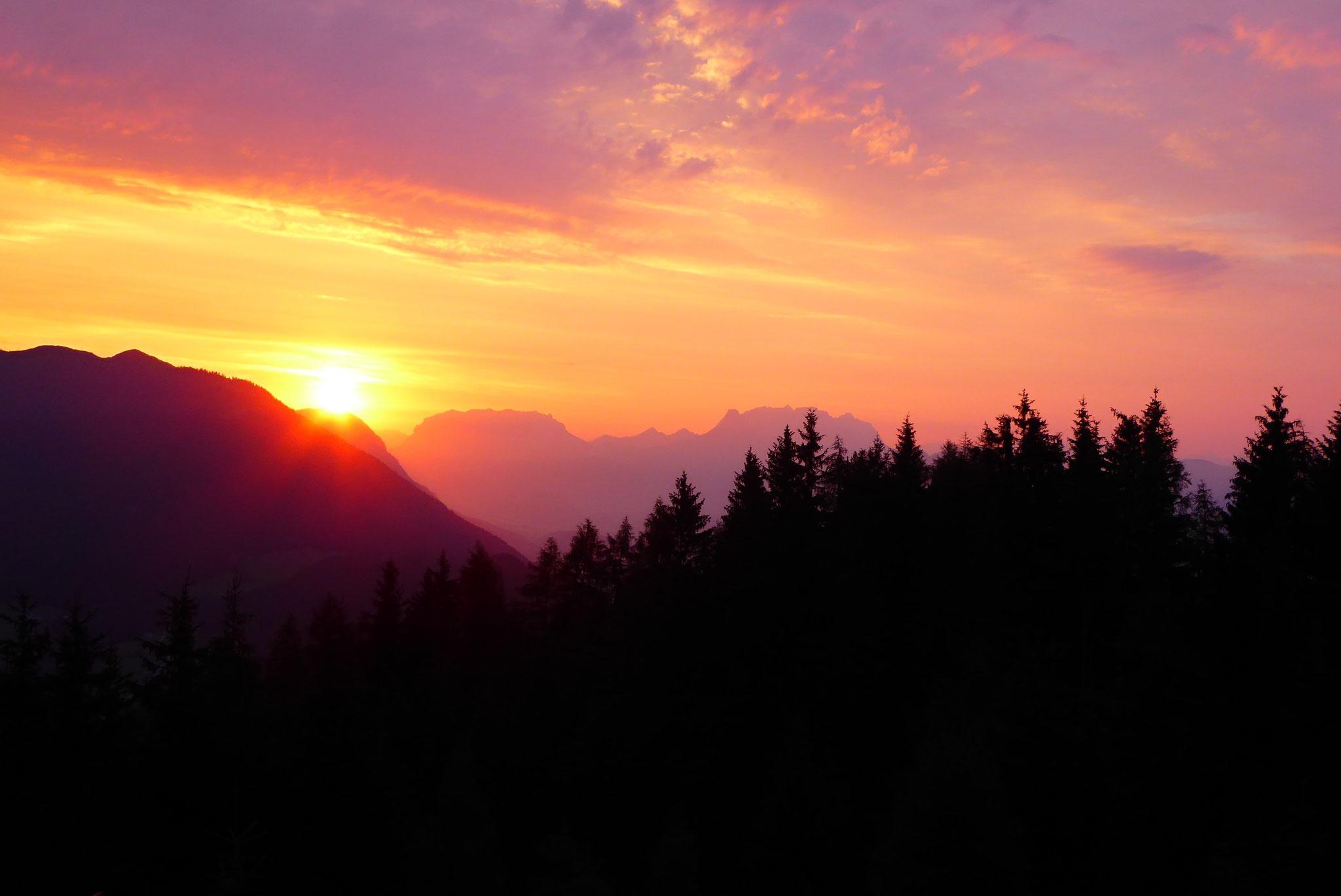 Wundschöner Sonnenaufgang! Foto: Ulrich Jaroschek