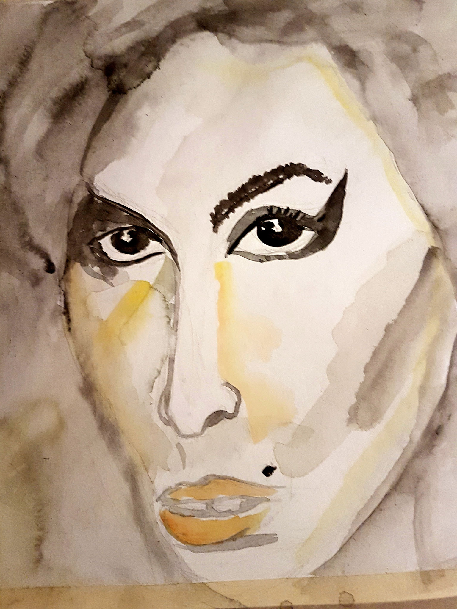 Amy, Aquarell, 30/40, 2017