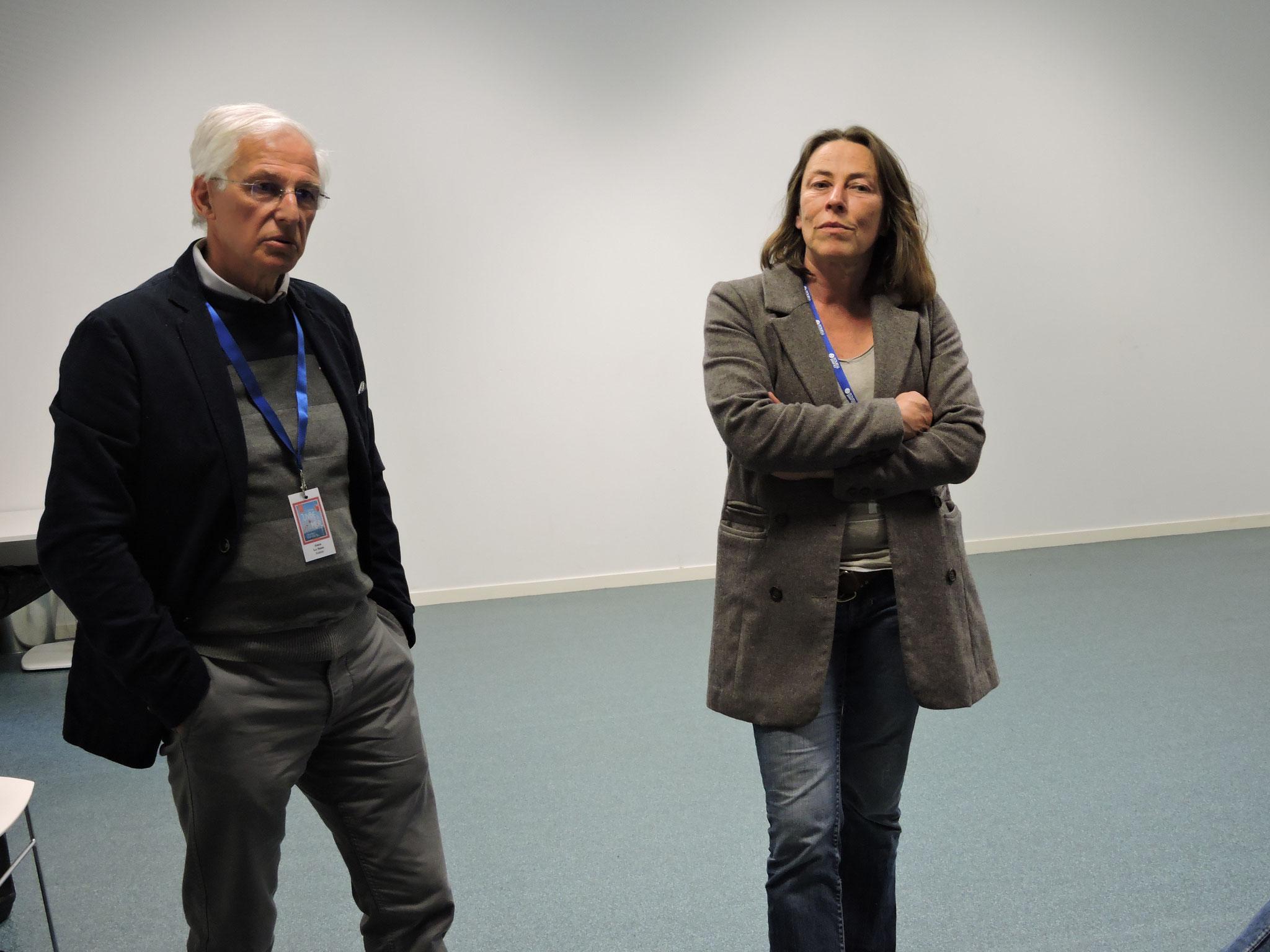 Alain Le Sann et Mathilde Jounot après la projection d'Océans, la voix des invisbles © C. Le Bonhomme