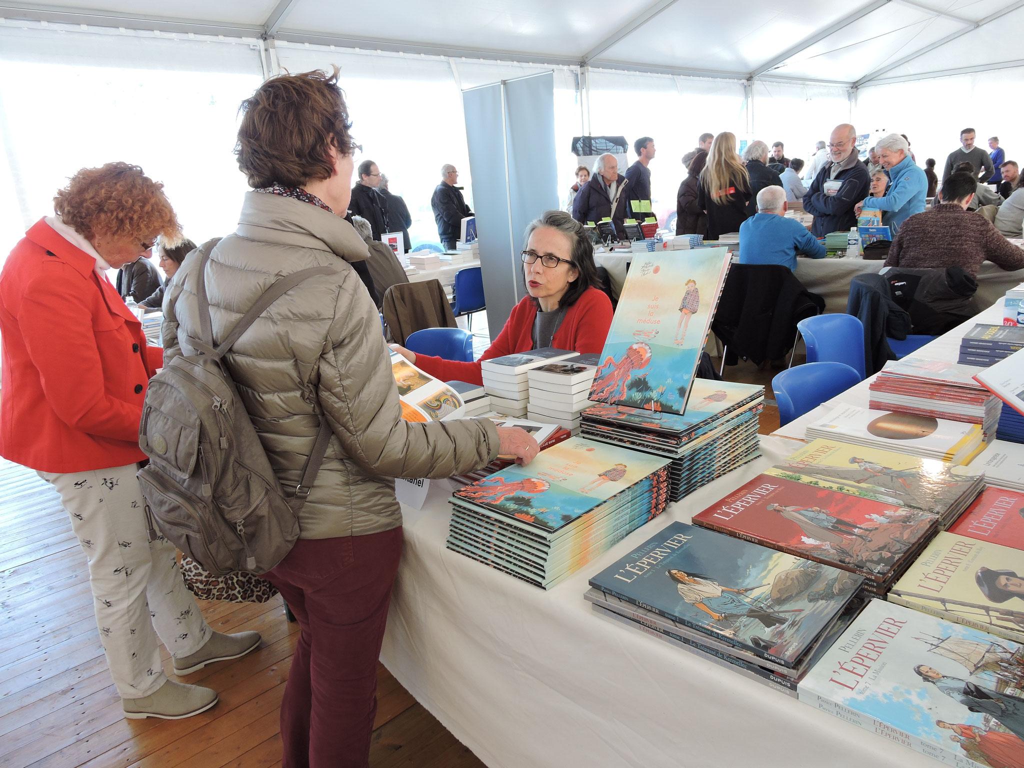 À la librairie avec Béatrice Fontanel © C. Le Bonhomme