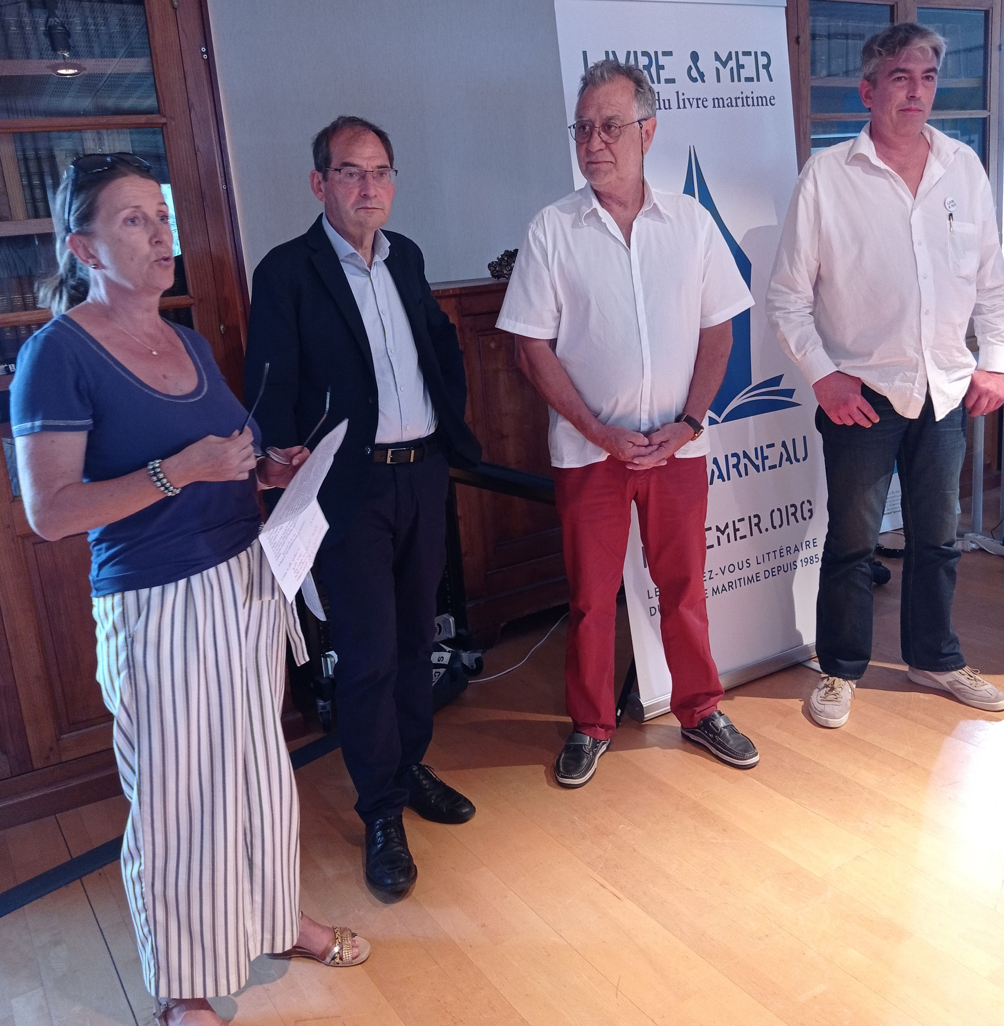 Annick Martin, Alain Echivard, Jacques Campion & Brieg Haslé-Le Gall