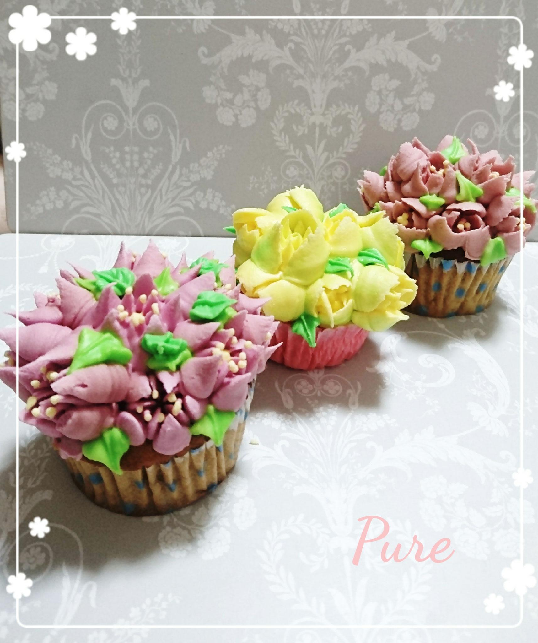3 お花畑カップケーキデコレーション(NEW)