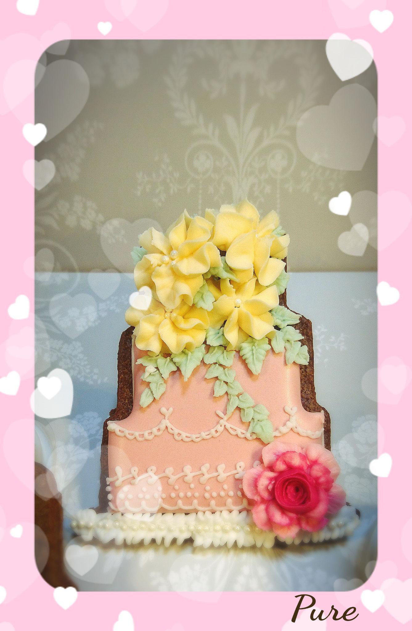 2016.8月「お花かざり ウェデングケーキ」