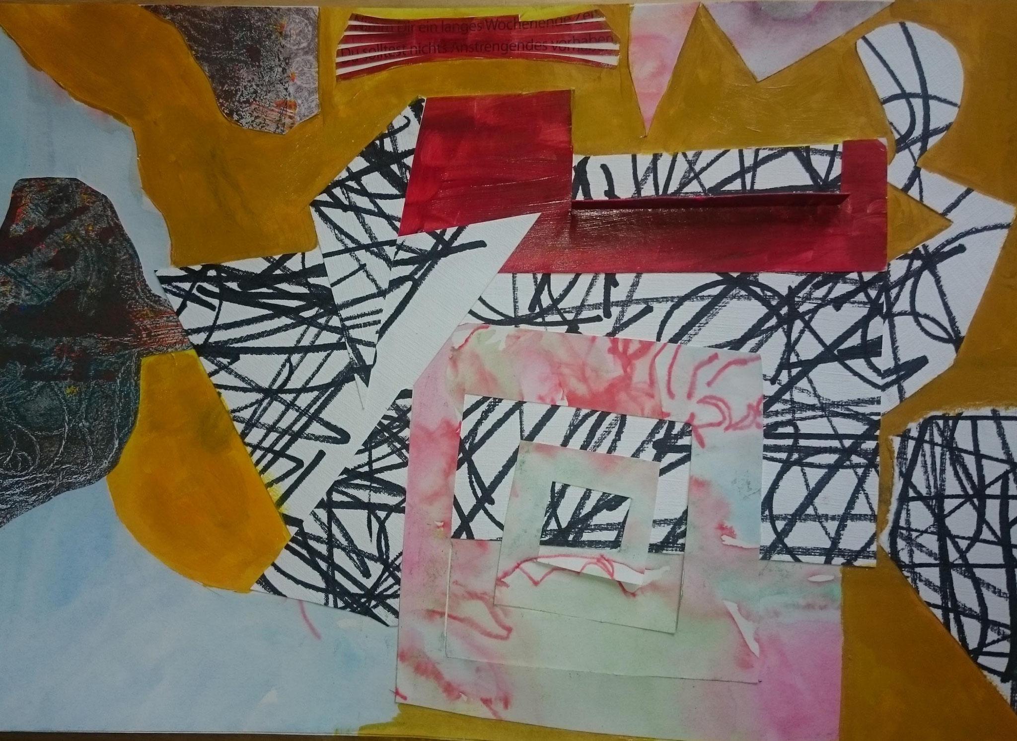 Katjas Collage zur Frottage / ganz frei