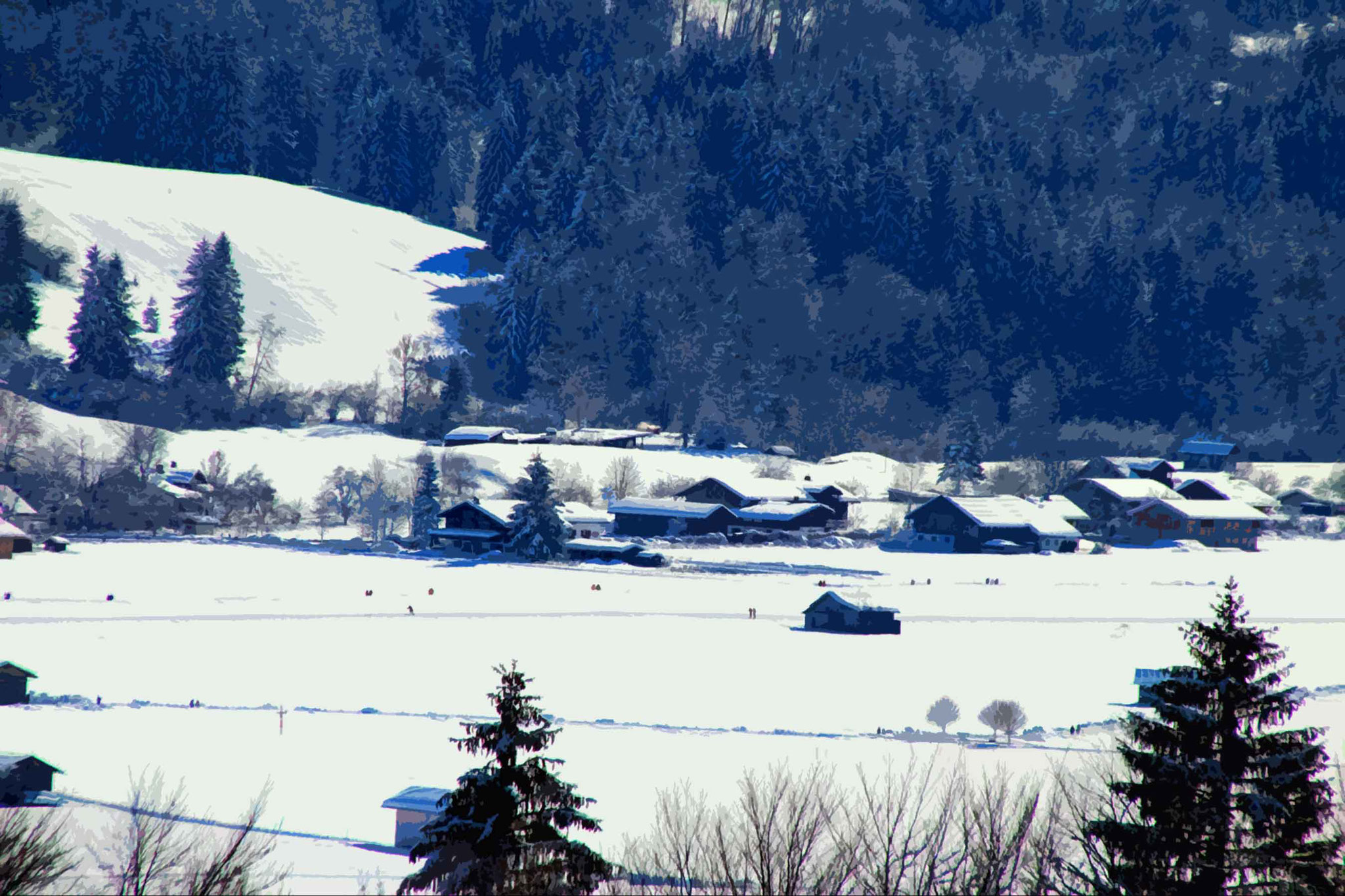 Oberstdorf – Wiesen, Winterwandern und Loipen