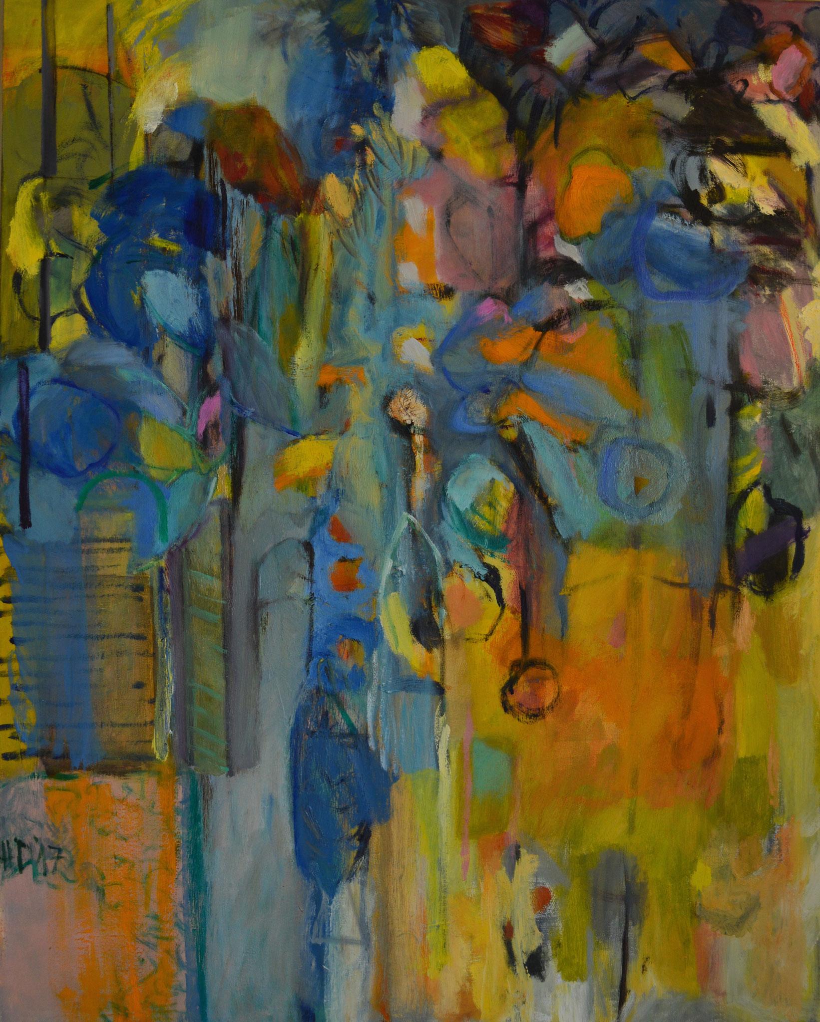 Orient 3, 2017, Öl auf Leinwand, 100 x 80