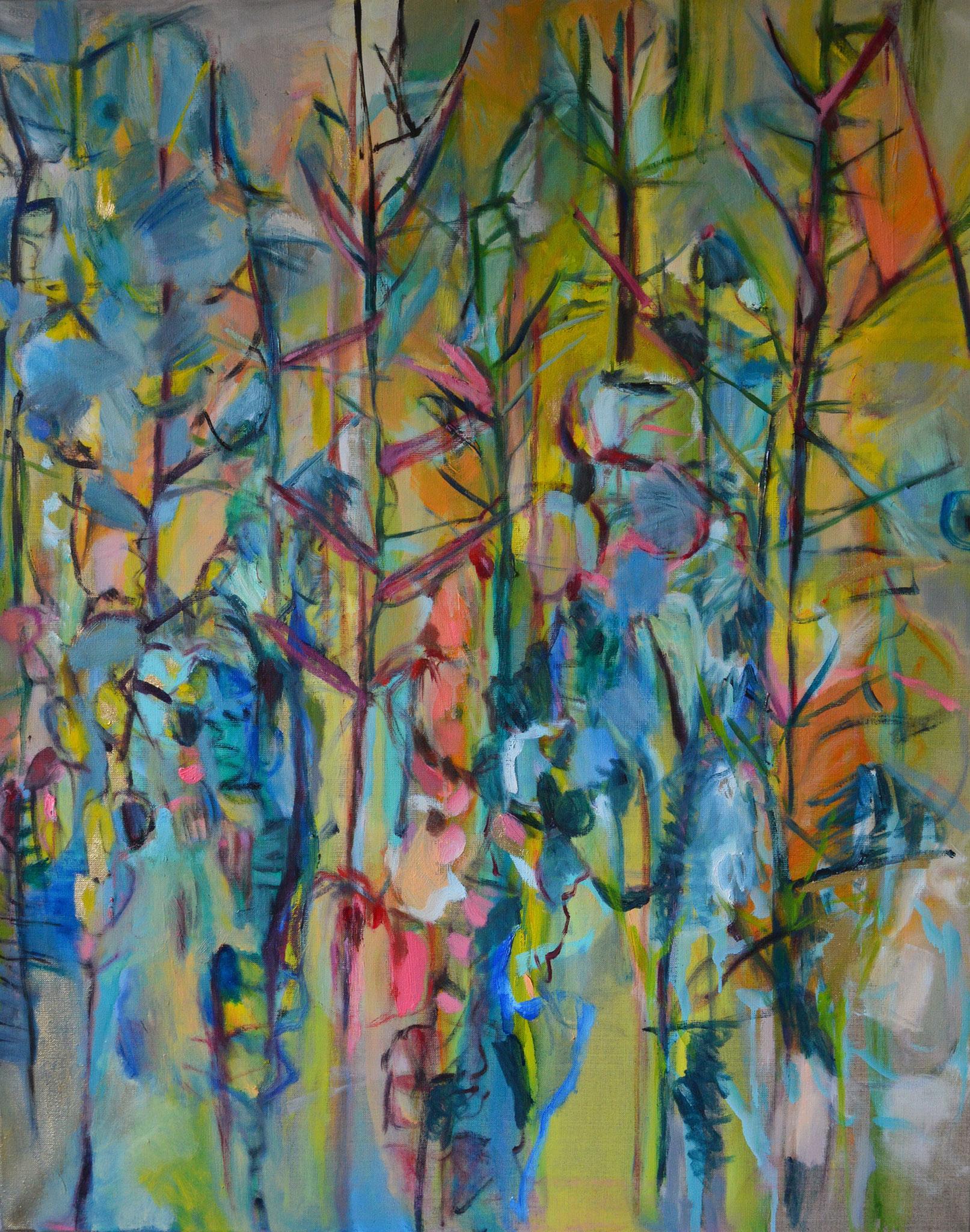 Orient 2, 2017, Öl auf Leinwand, 100 x 80