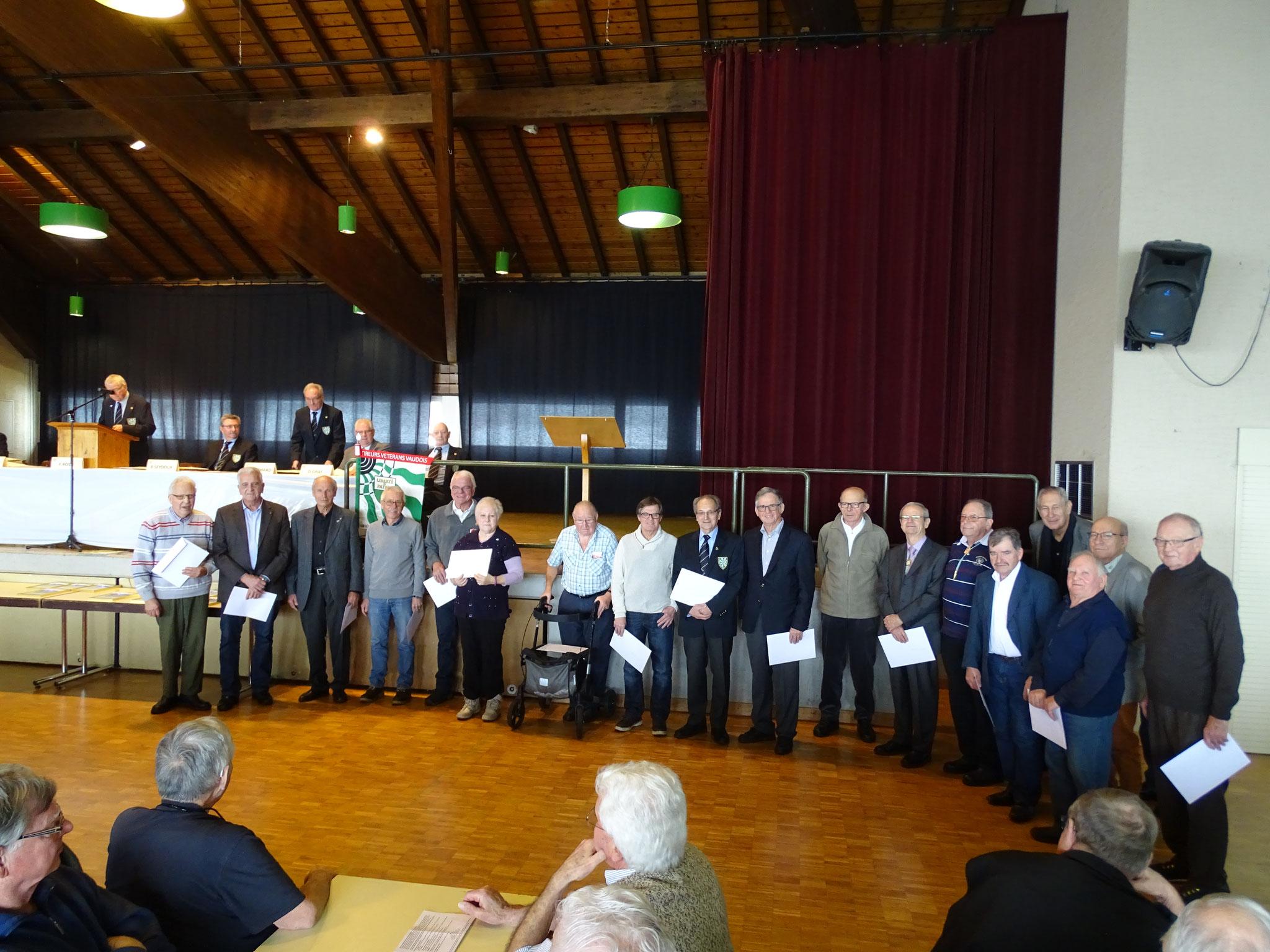 Vétérans honoraires cantonaux 15 ans de sociétariat
