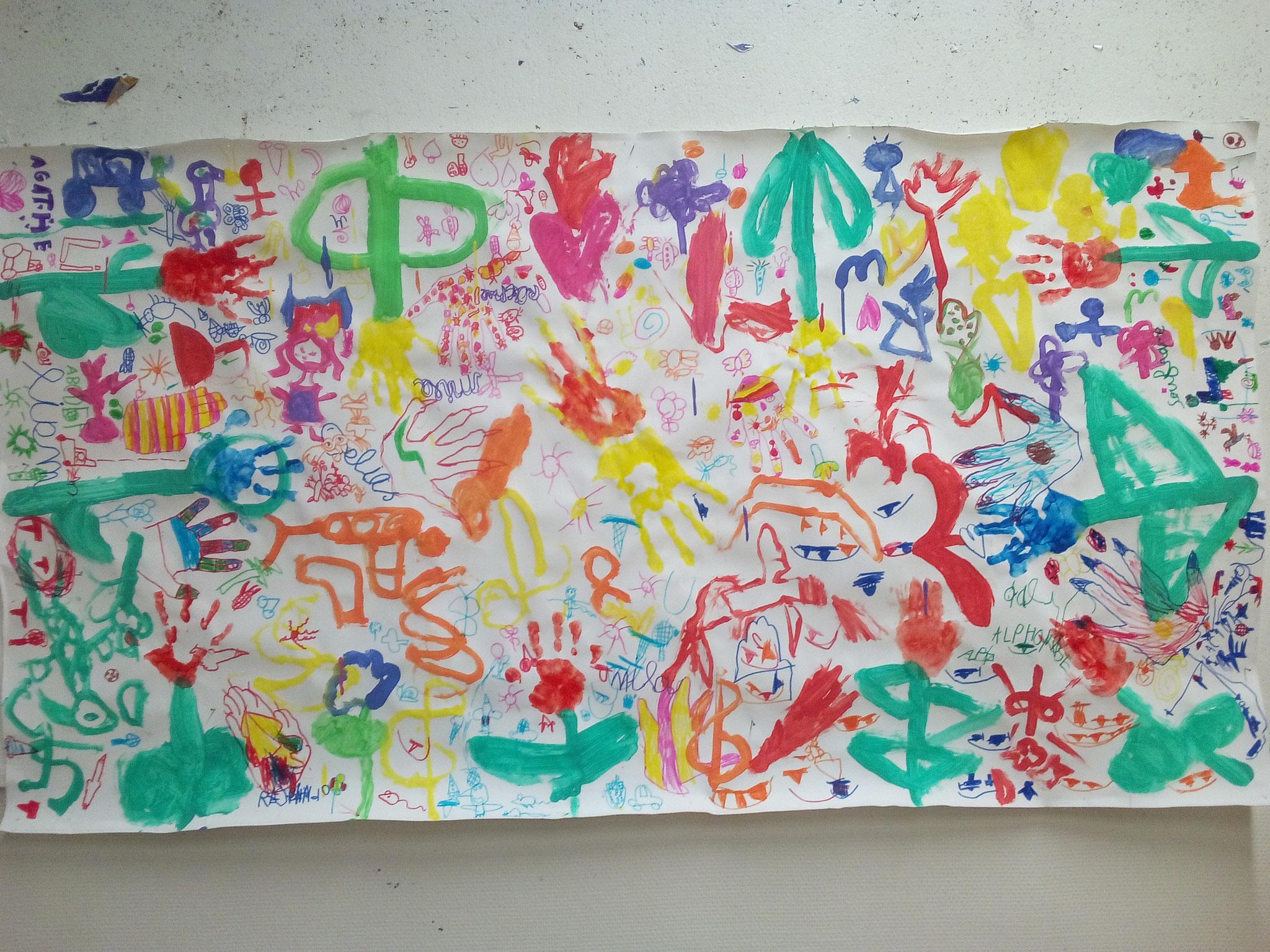 Fresque colorée