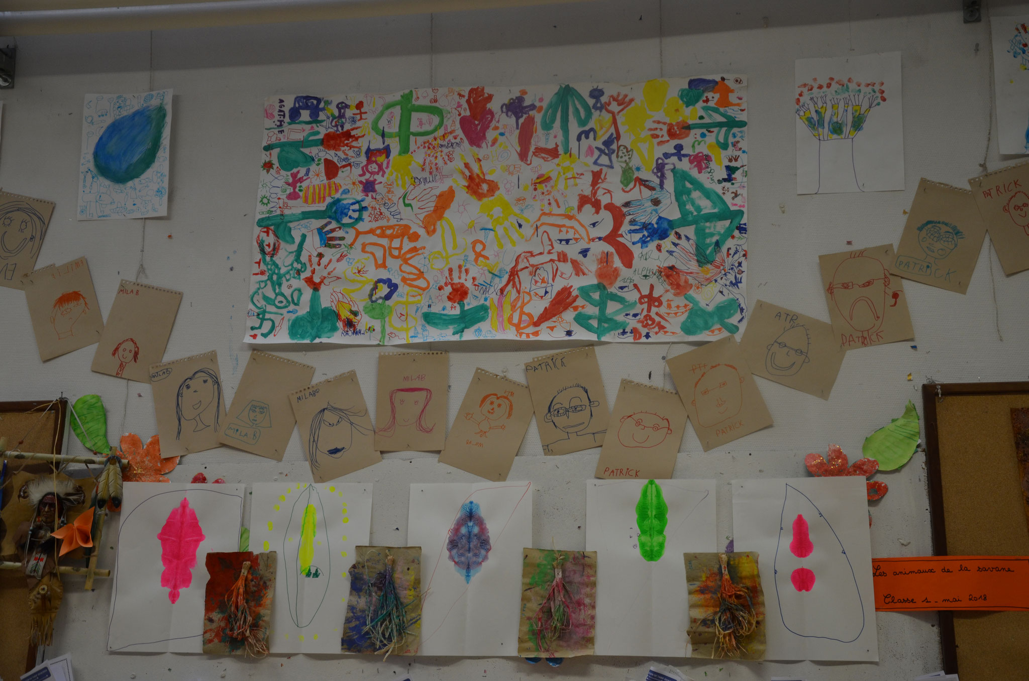 Portraits, Petits extra-terrestres et La fresque colorée