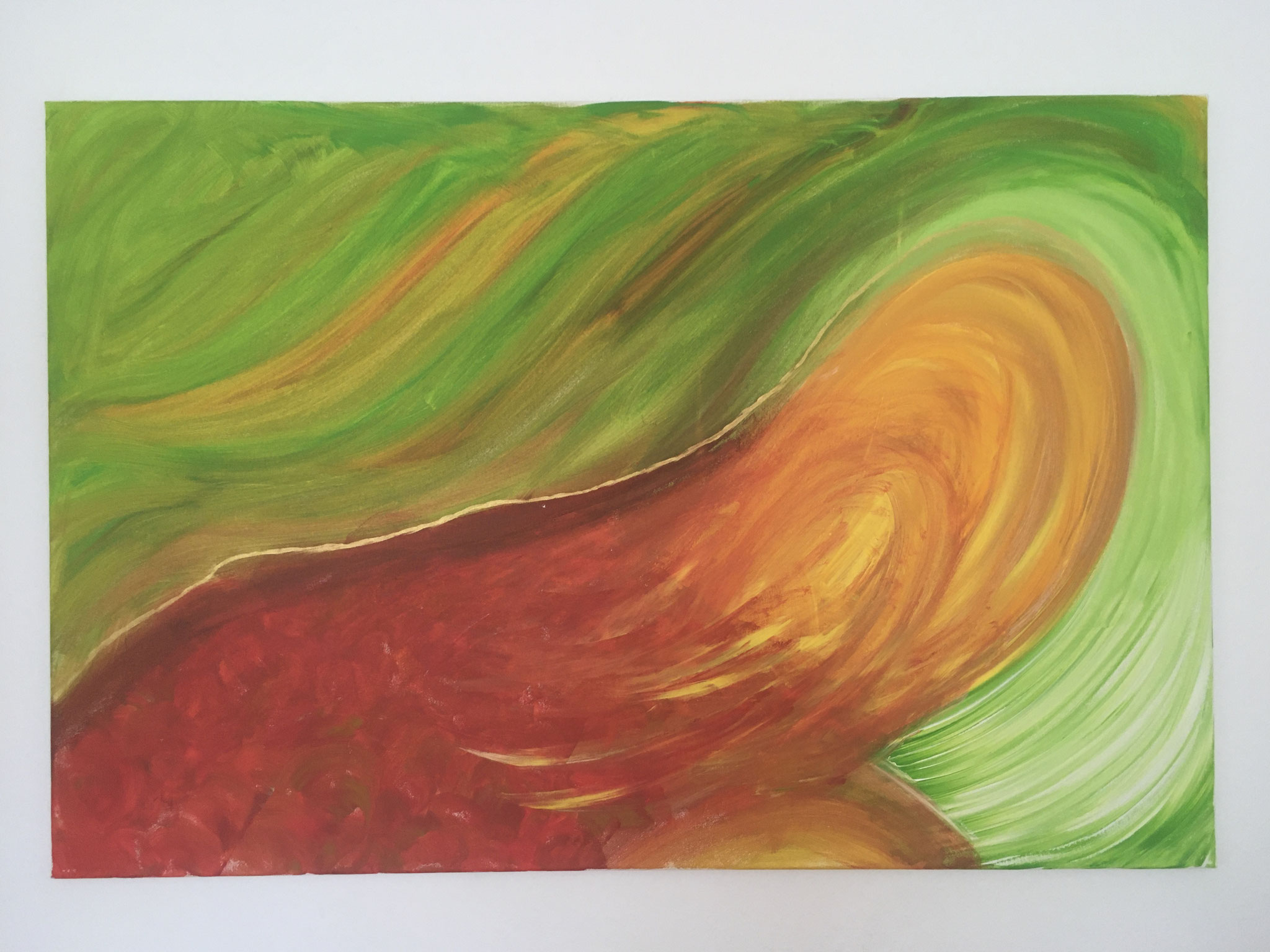 Halbe Blüte (80x120cm)