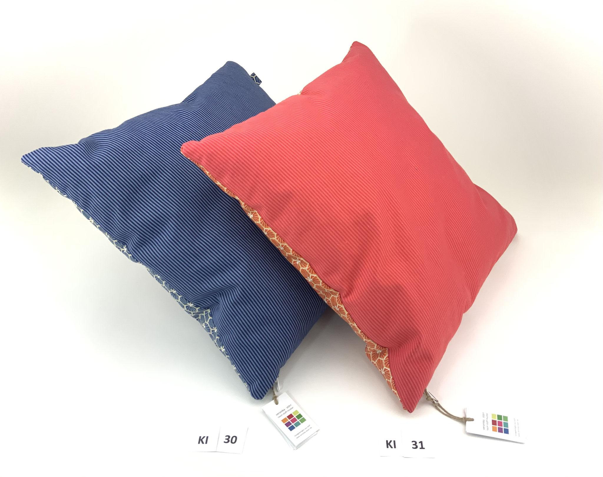 Ki 30: verkauft——— Ki 31: 36 x 36 cm * Bezug BW Öko + BBW / separates Inlett Kunstfaser / komplett 16,90 €