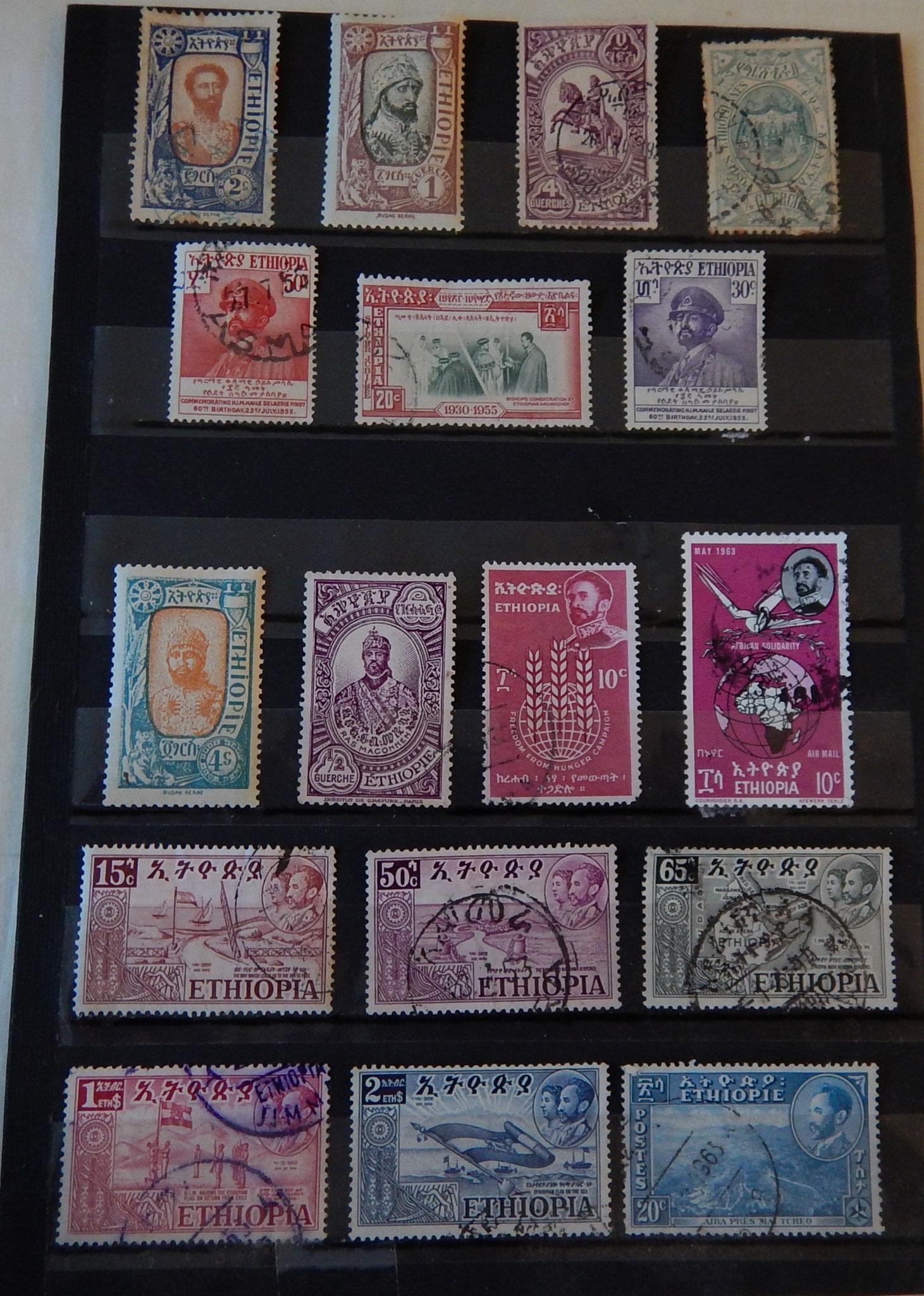 Grand choix de timbres ©Textes_et_Photos_Pascal_Mawuli_Macé_Voyage_Ethiopie_Commerce_solidaire_Timbre_Ethiopie_Ethiopian_Stamp_Travaux_Work_RasTafari_Addis_Abeba_Mawuli-Ethiopie_artisanat_ethiopien