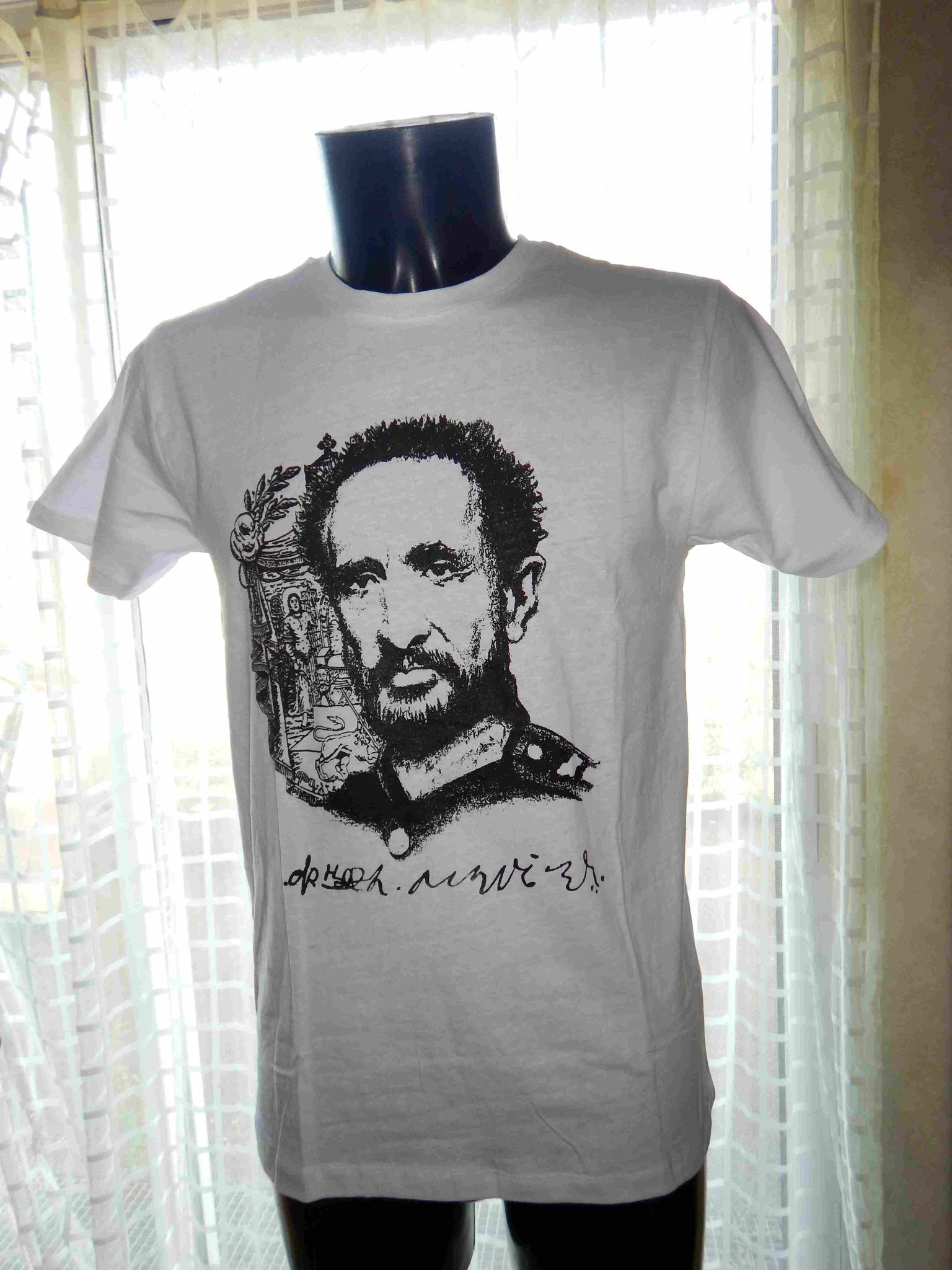 T-Shirt Haie Selassie Rasta Ras Tafari Robe Habesha Coton Ethiopie Artisanat ethiopien Epices made by locals solidaire équitable textils voyage Ethiopie 1