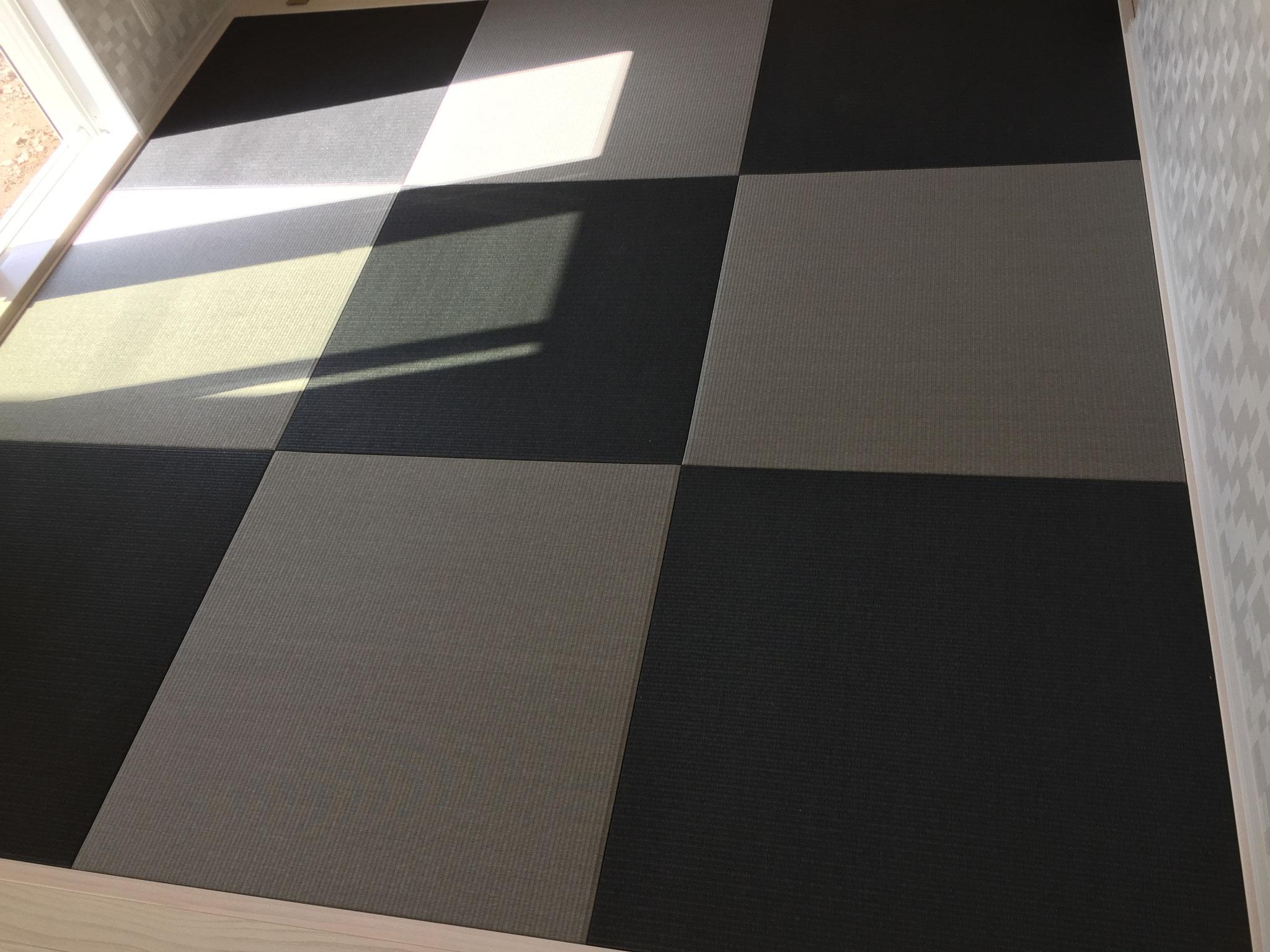 和紙畳 清流09墨染色×清流11銀鼠色