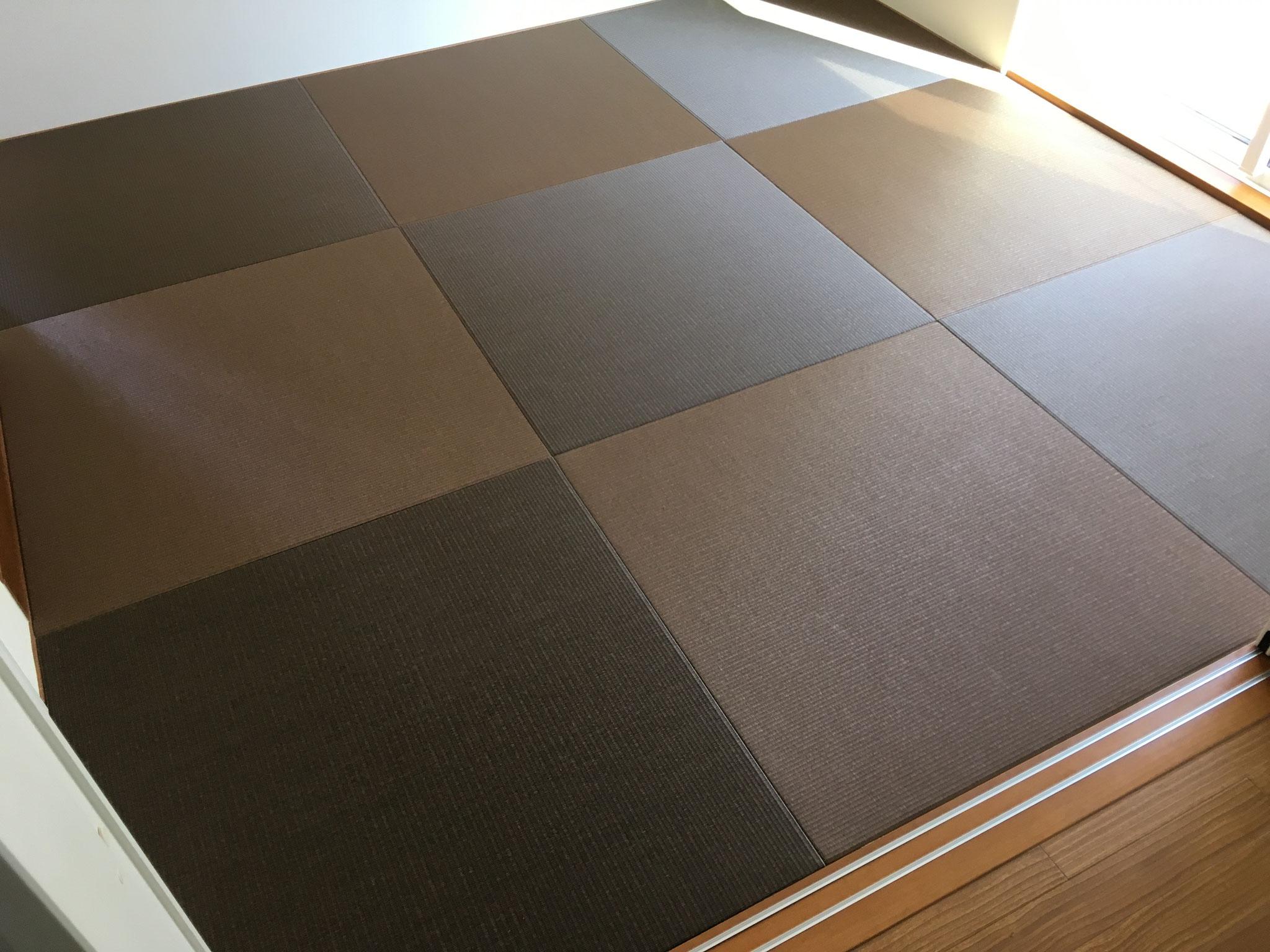 和紙畳 カクテルフィット№22(栗色胡桃色)×栗色