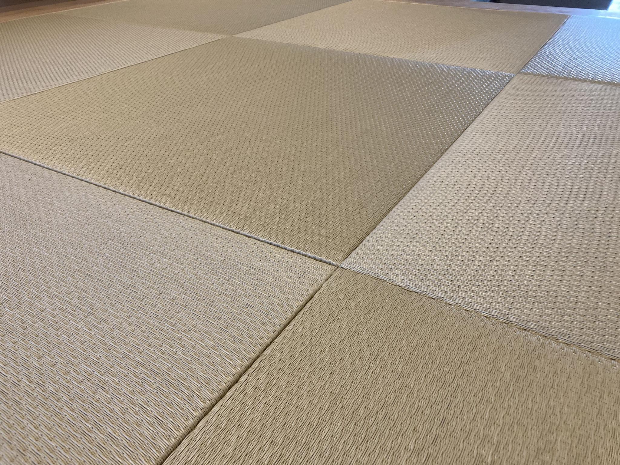 和紙畳 小波 若草色