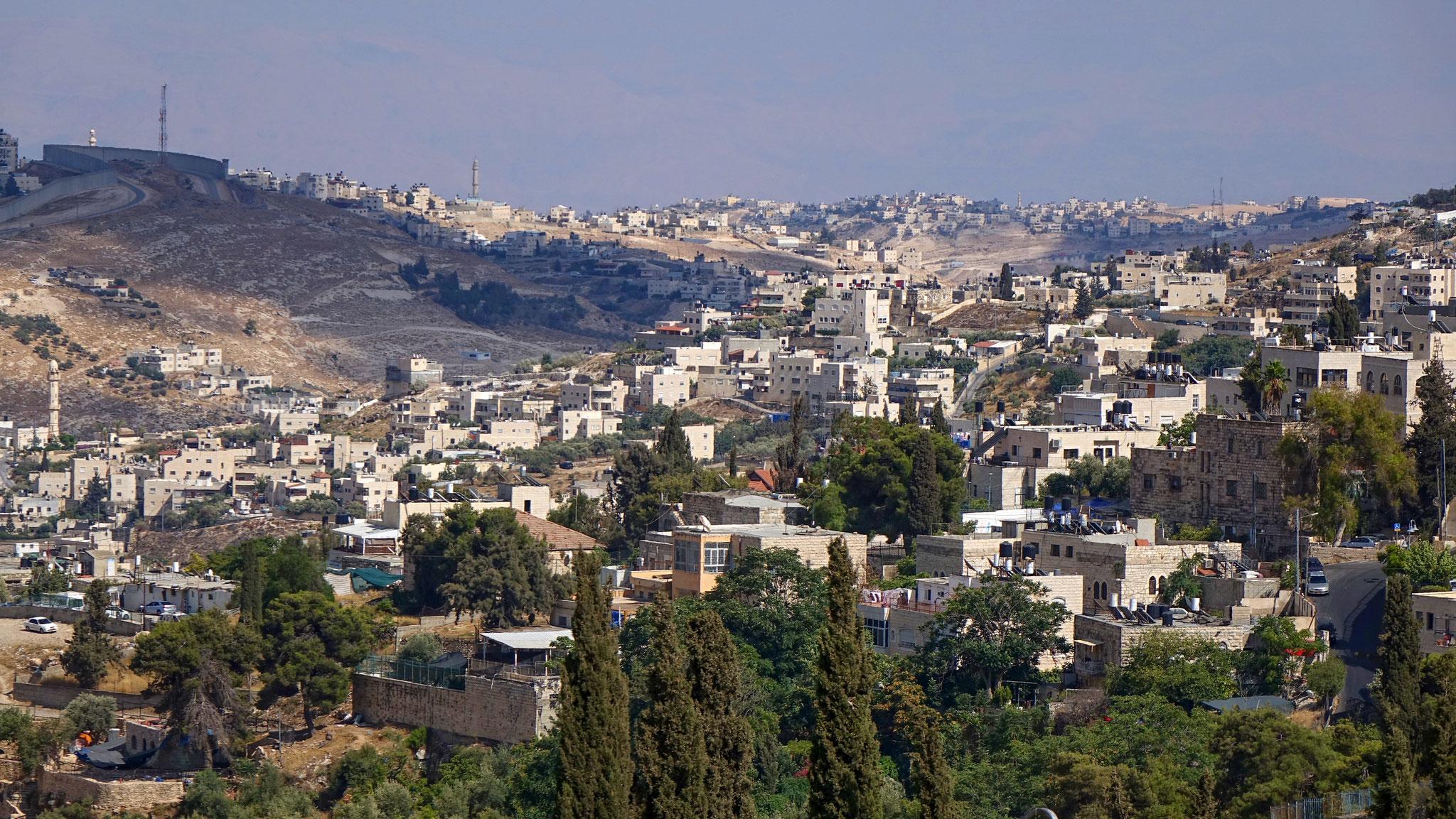 Westjerusalem-Mauer Ostjerusalem